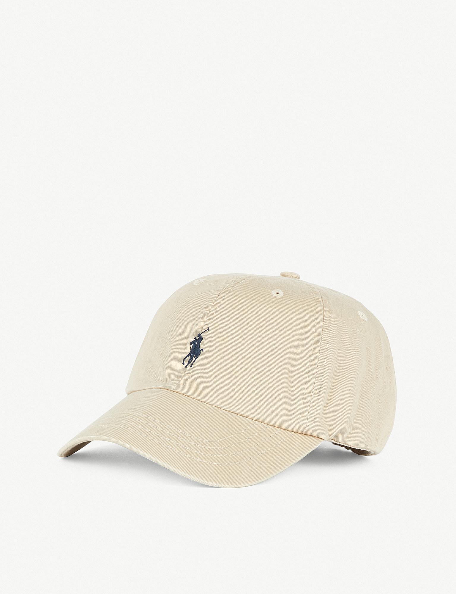 Lyst - Polo Ralph Lauren Classic Logo Cotton Cap in Natural 54427090ff40