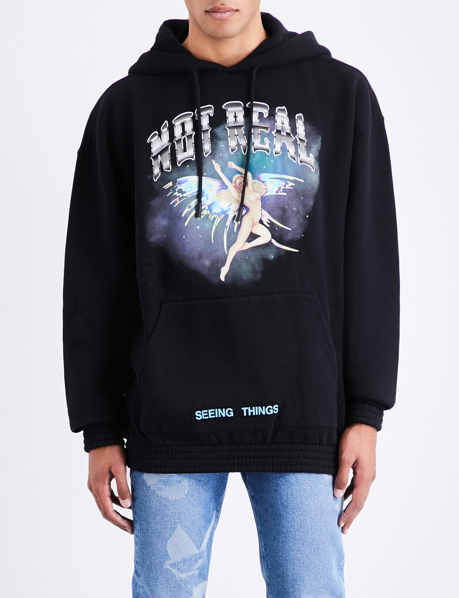 583af487e015 Lyst - Off-White c o Virgil Abloh Angel Not Real Cotton-jersey Hoody ...