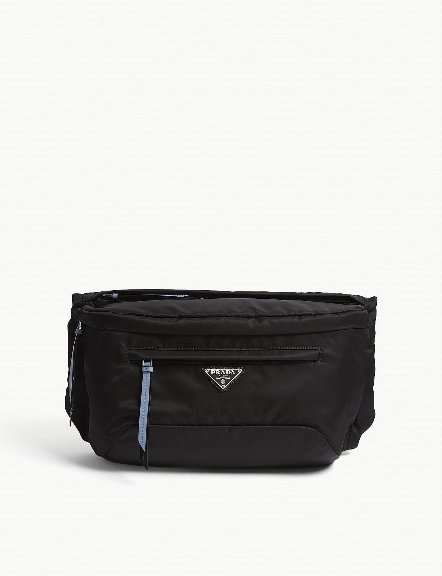 be54c73a4554 ... ireland buy online 5e64d 9a886 lyst prada tessuto mini bucket crossbody  bag in black 70bc2 9c545