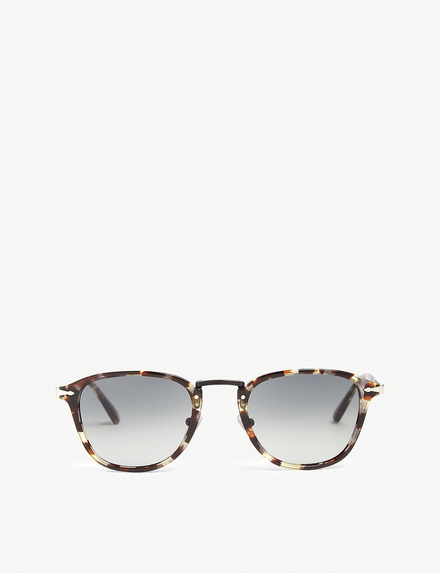 1e55a910fb Lyst - Persol Po3186s Havana Acetate Square Sunglasses in Gray