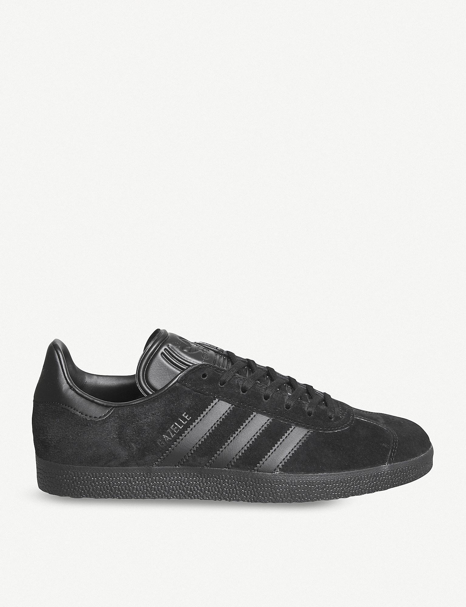 premium selection 23410 06c0f adidas. Mens Black Gazelle Suede Trainers