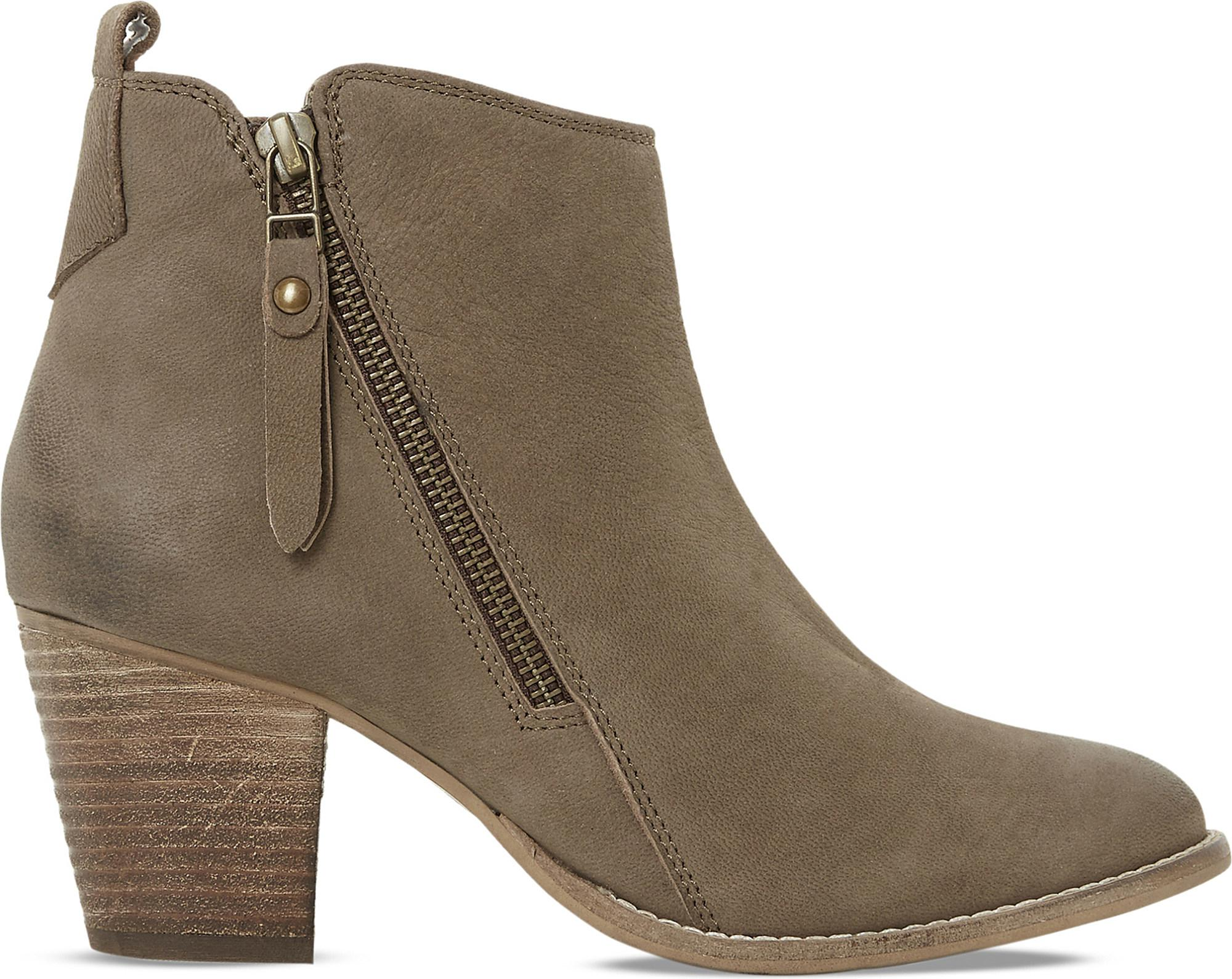 Dune Rubber Pontoon Leather Ankle Boots