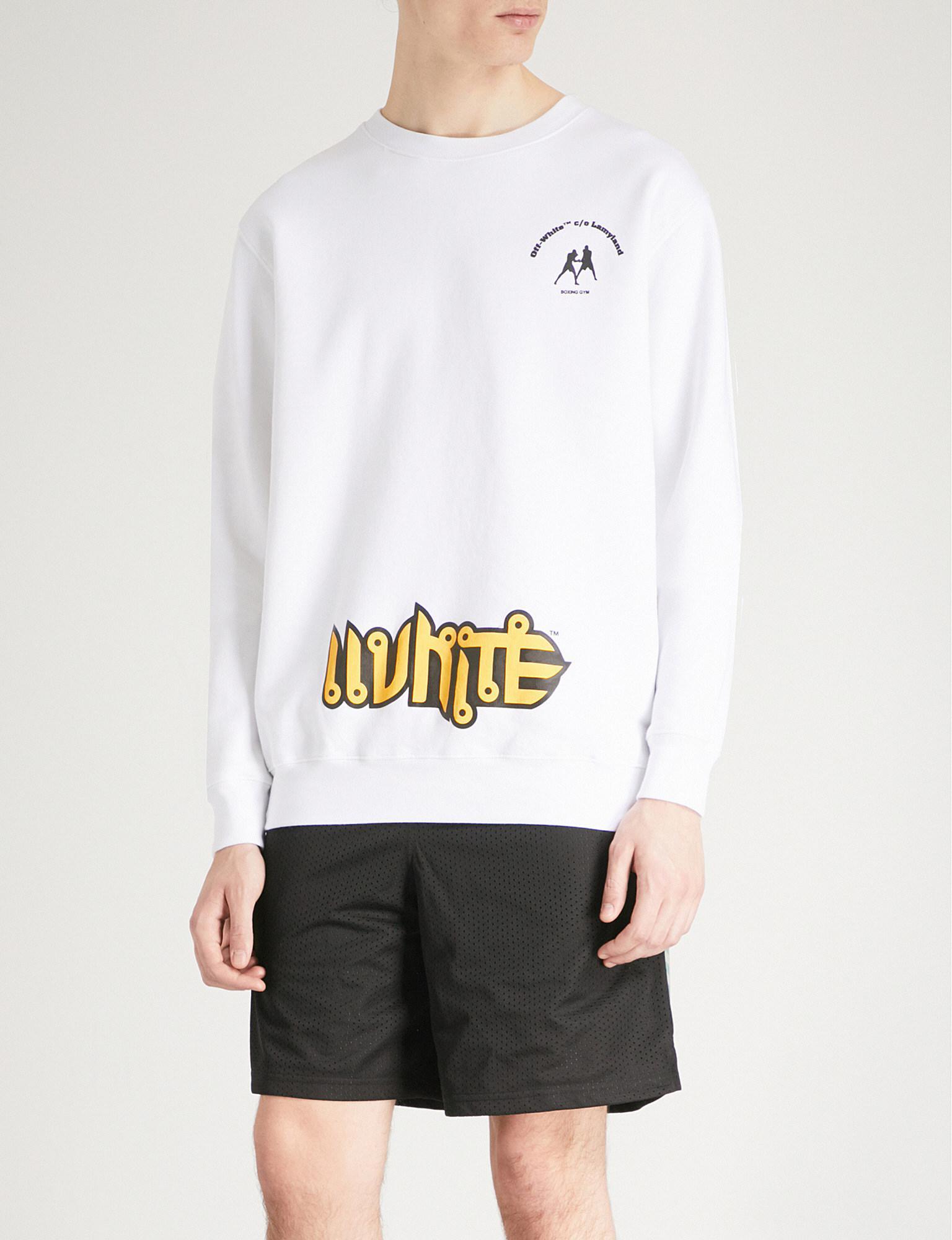 758031c09d03 Off-White C O Virgil Abloh Lamyland Cotton-jersey Sweatshirt in ...