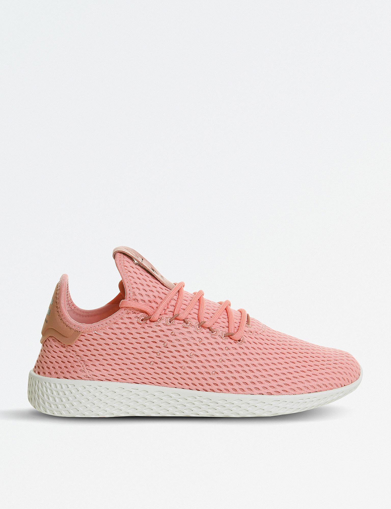 Pais de Ciudadania Patatas sin embargo  adidas Pharrell Williams Tennis Hu Mesh Trainers in Pink - Lyst