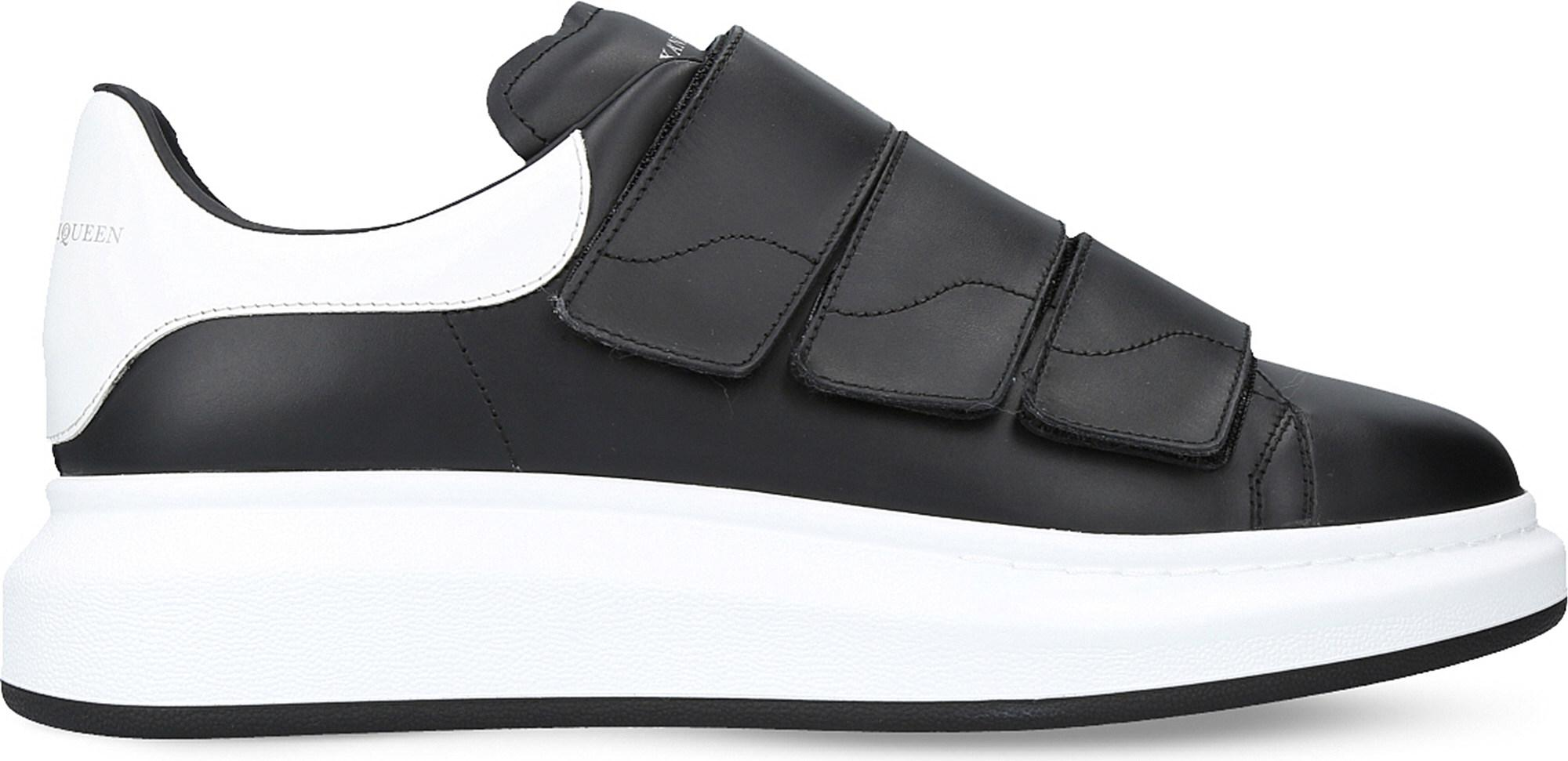 338b1975e Lyst - Alexander McQueen Show Triple-strap Leather Trainers in Black ...