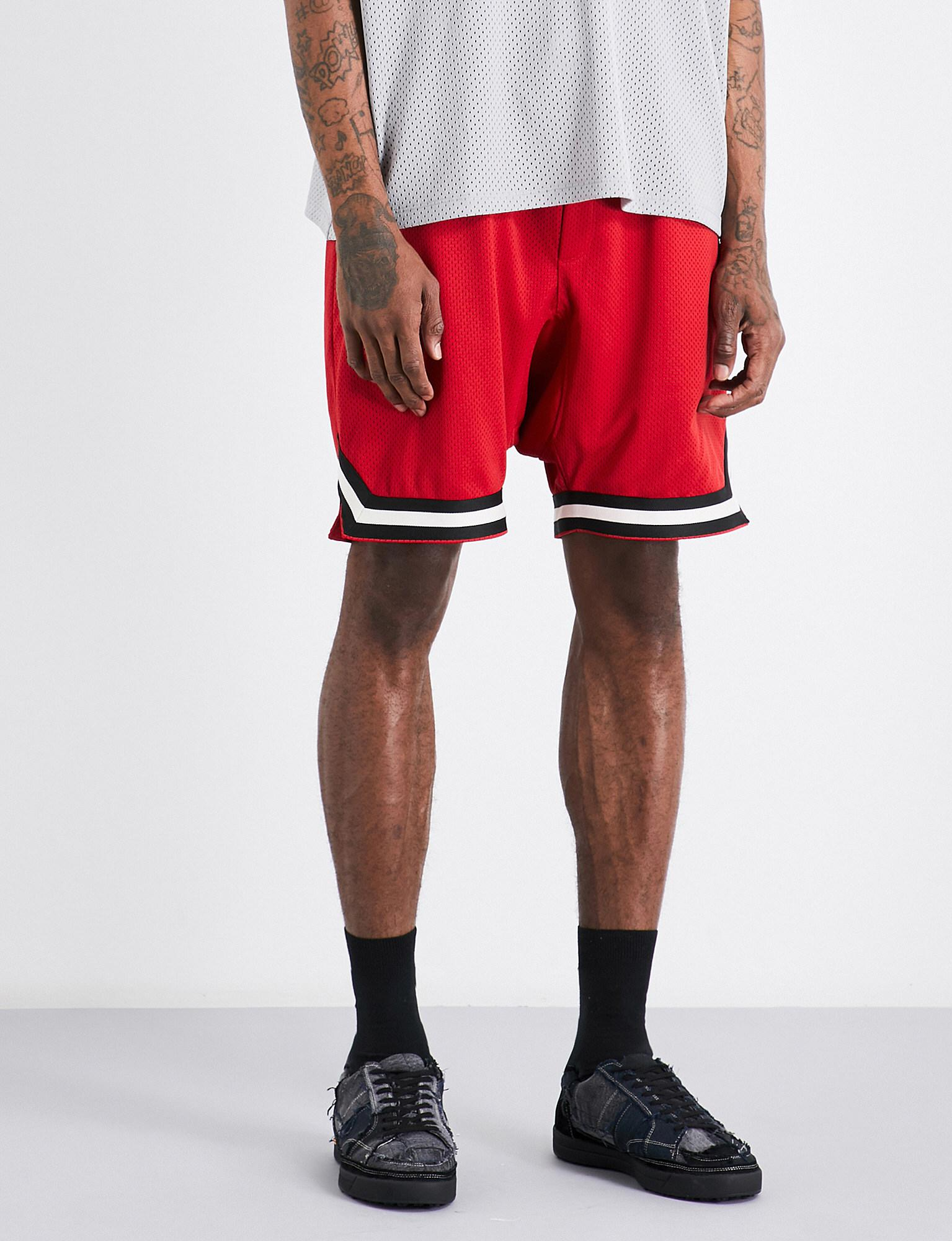 3e85ab9f80c71 Fear Of God Fifth Collection Dropped-crotch Mesh Shorts in Red for ...