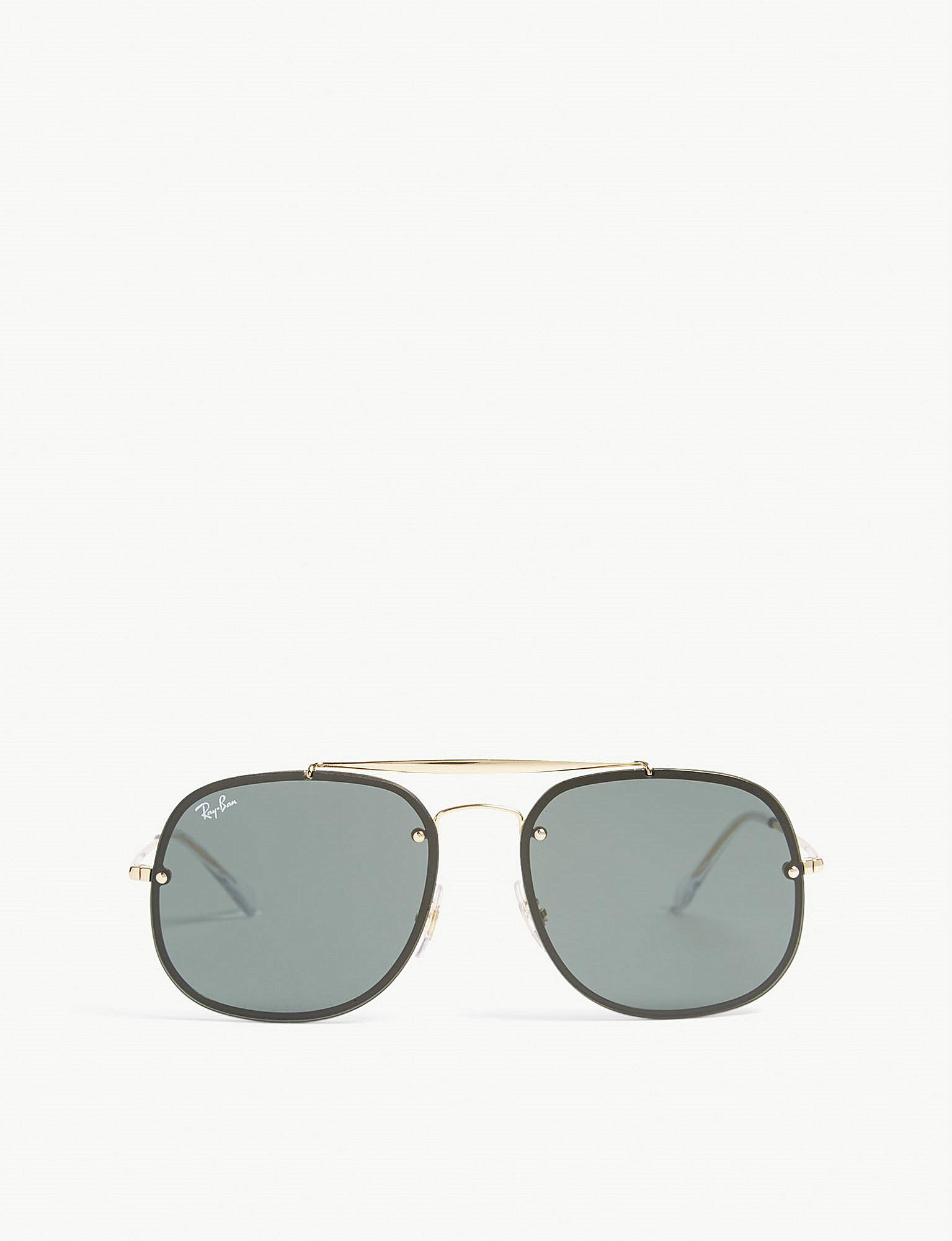 202a401976 Lyst - Ray-Ban Rb3583 Square-frame Sunglasses in Metallic