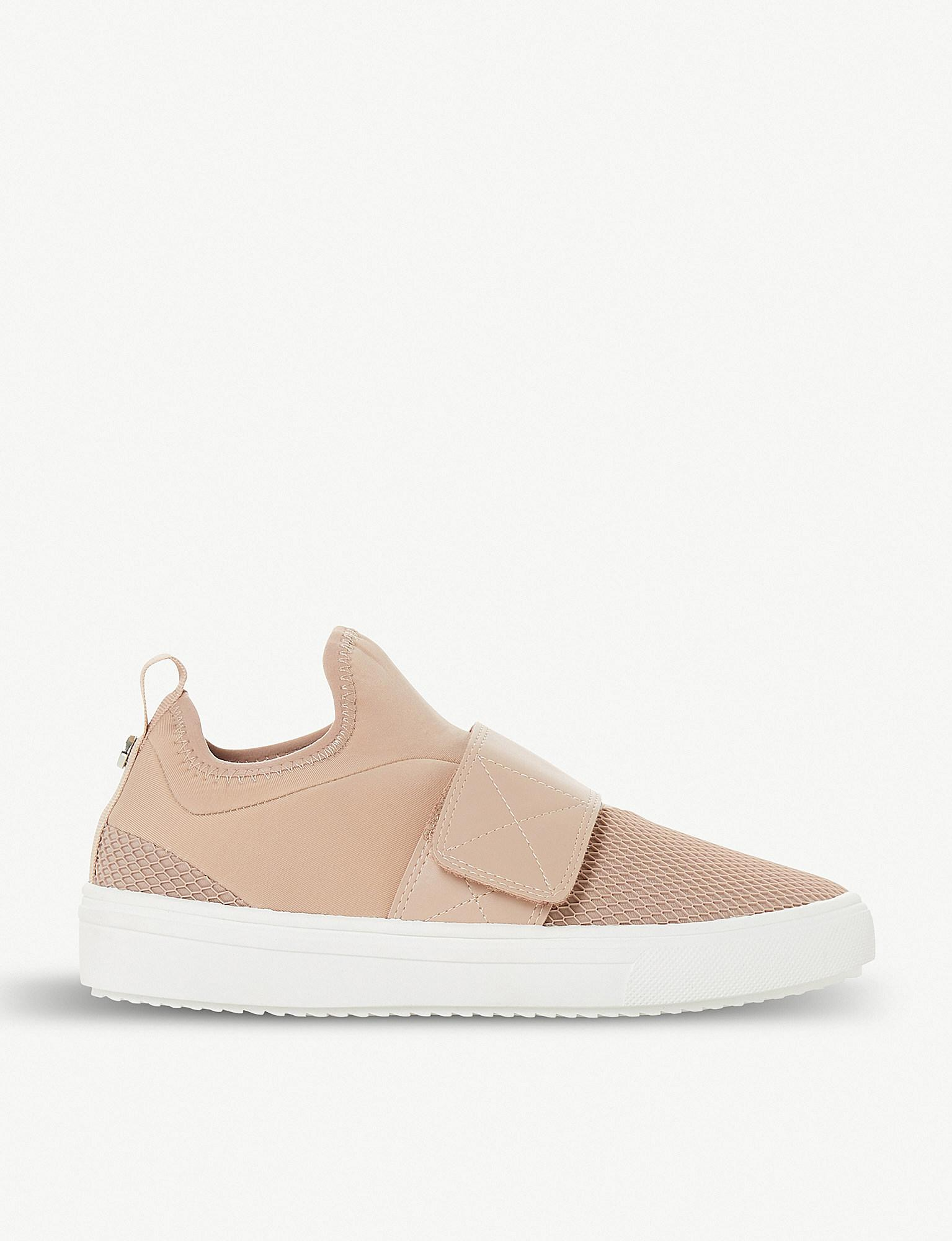 Steve Madden Leather Velcro Mesh-panel Trainers in Pink