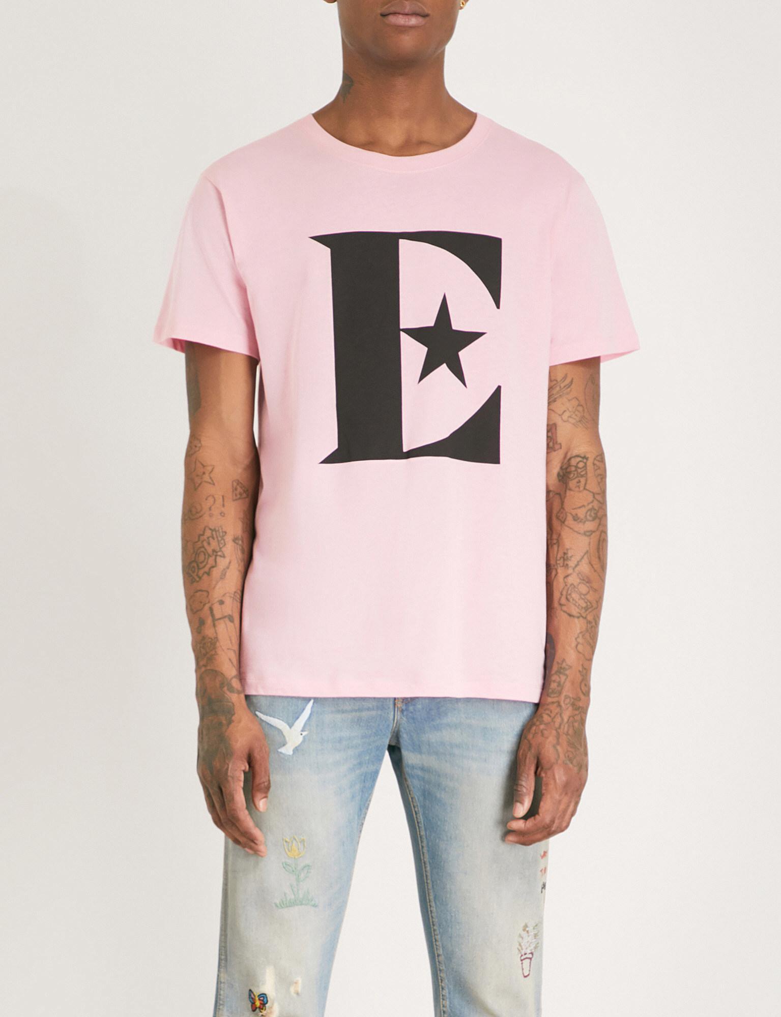 2af7cdd75da2 Gucci Elton John Cotton T-shirt in Pink for Men - Lyst