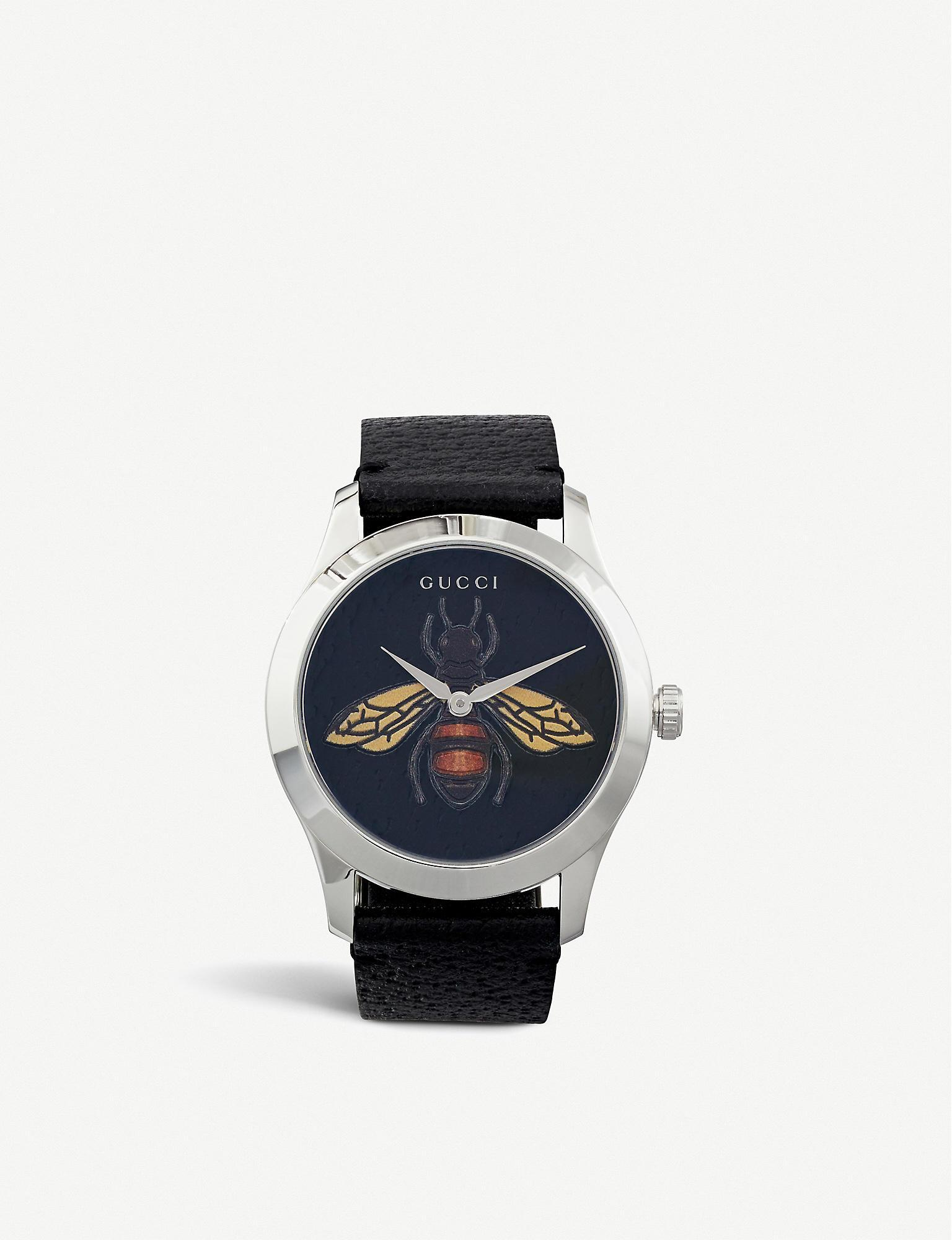 17ba43edcf2 Lyst - Gucci Ya1264067 G-timeless Gold Pvd And Leather Watch in ...