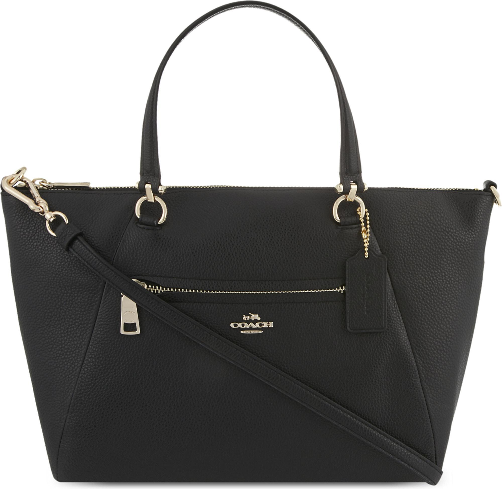 22fb418534c4 Lyst - COACH Mercer 24 Leather Cross-body Bag in Black - Save 43%