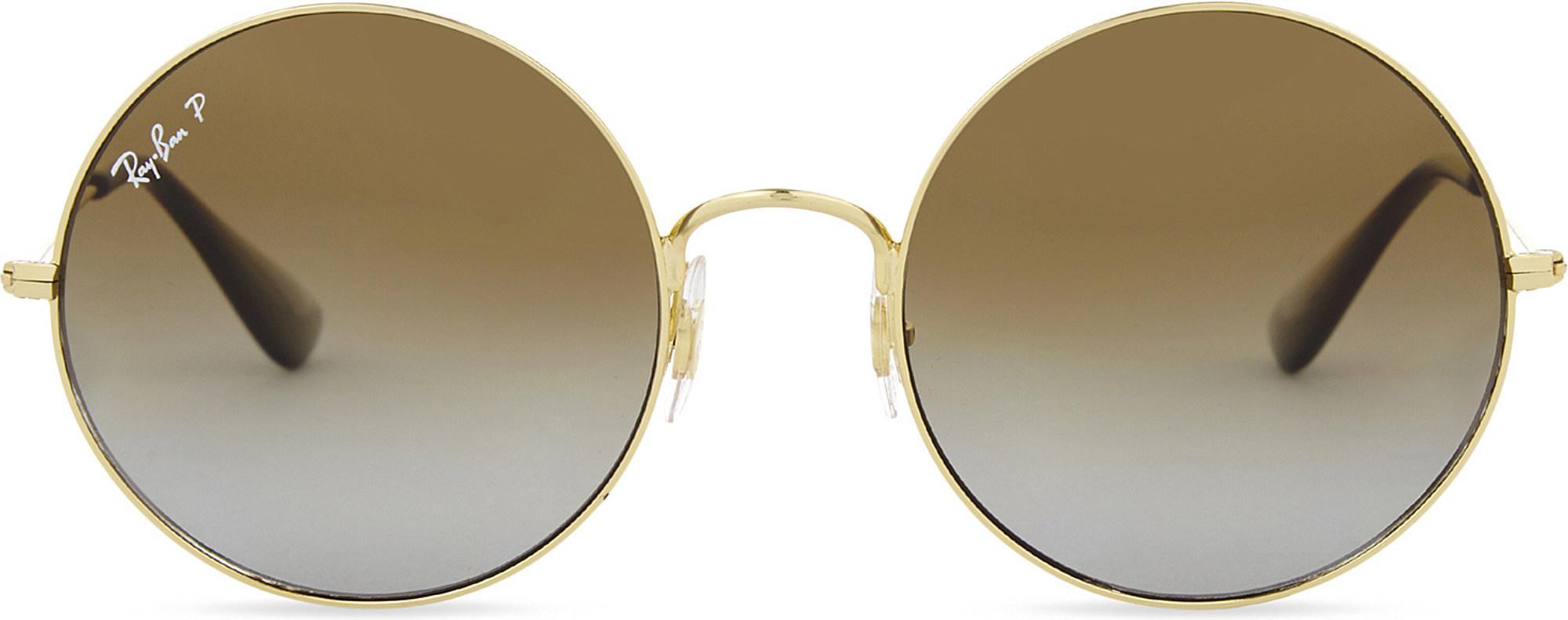 e123a83e22 Lyst - Ray-Ban Rb3592 Ja-jo Round-frame Sunglasses in Metallic