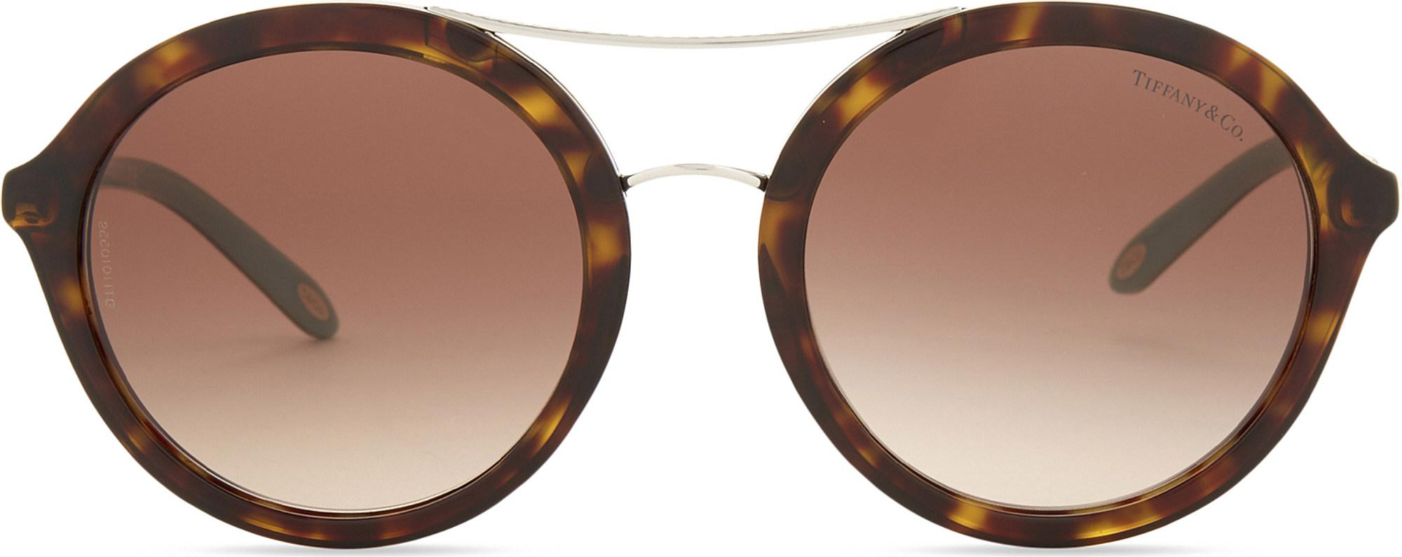 402bd06706f Tiffany   Co. Tf4136 Round-frame Sunglasses in Brown - Lyst