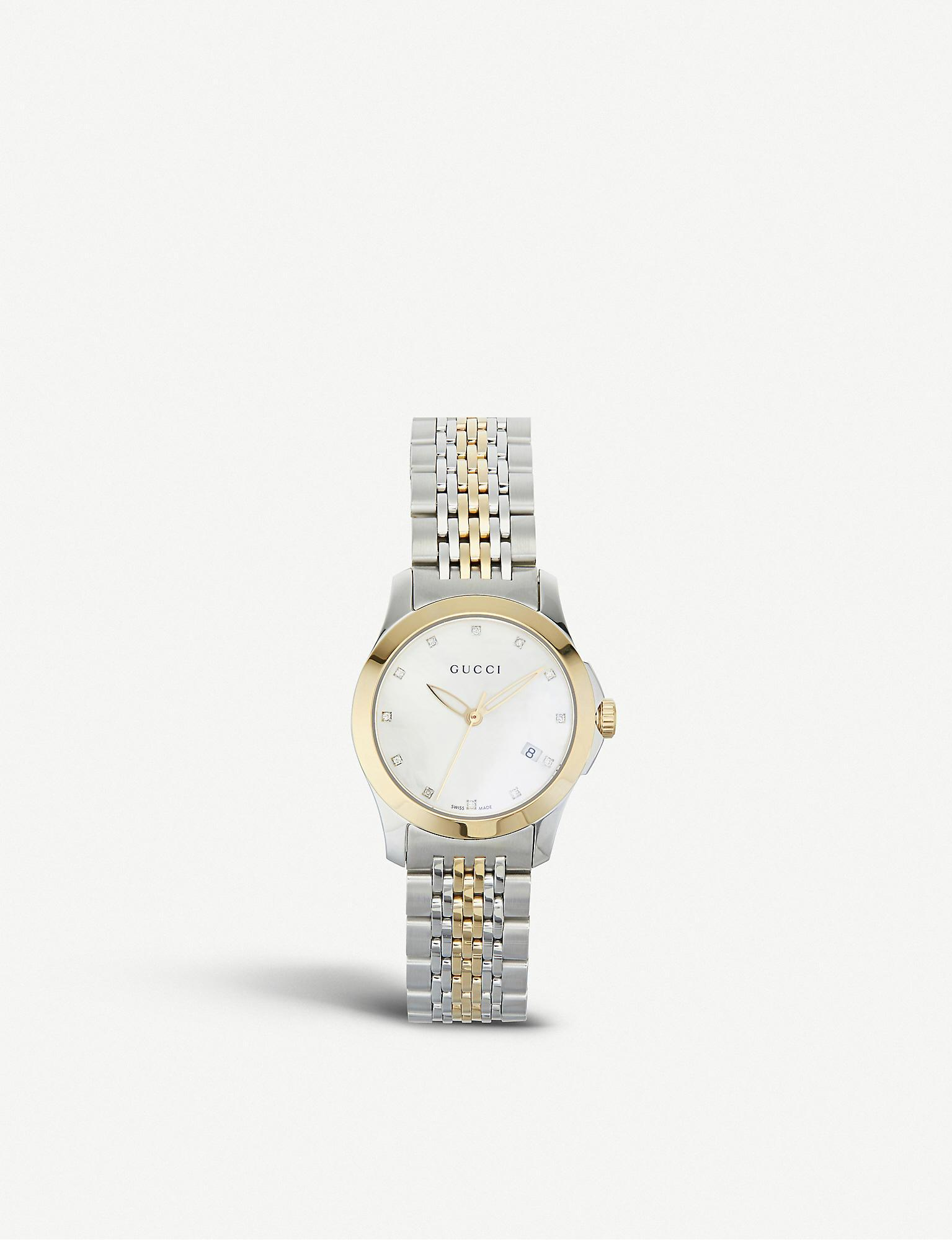 15c92d60649 ... G-timeless Collection Stainless Steel And Yellow-gold Pvd Watch. View  fullscreen