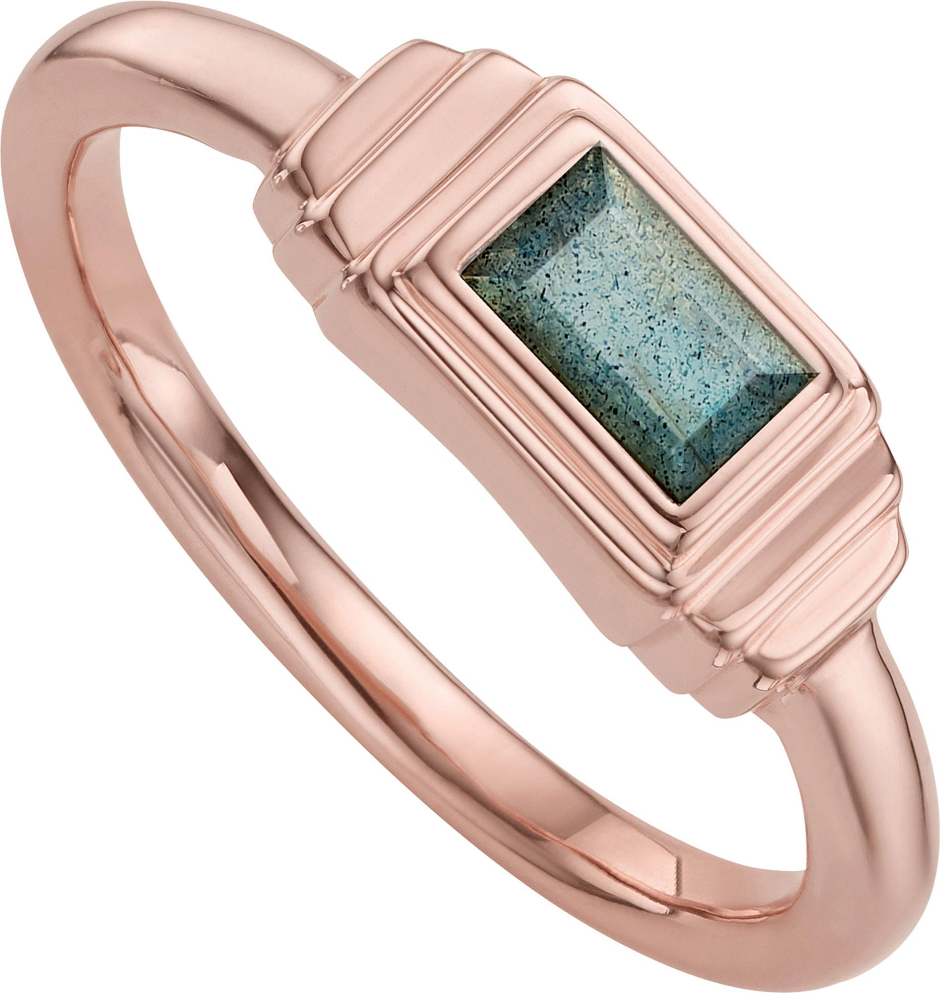 Lyst monica vinader baja deco 18ct rose gold and for Deco maison rose gold
