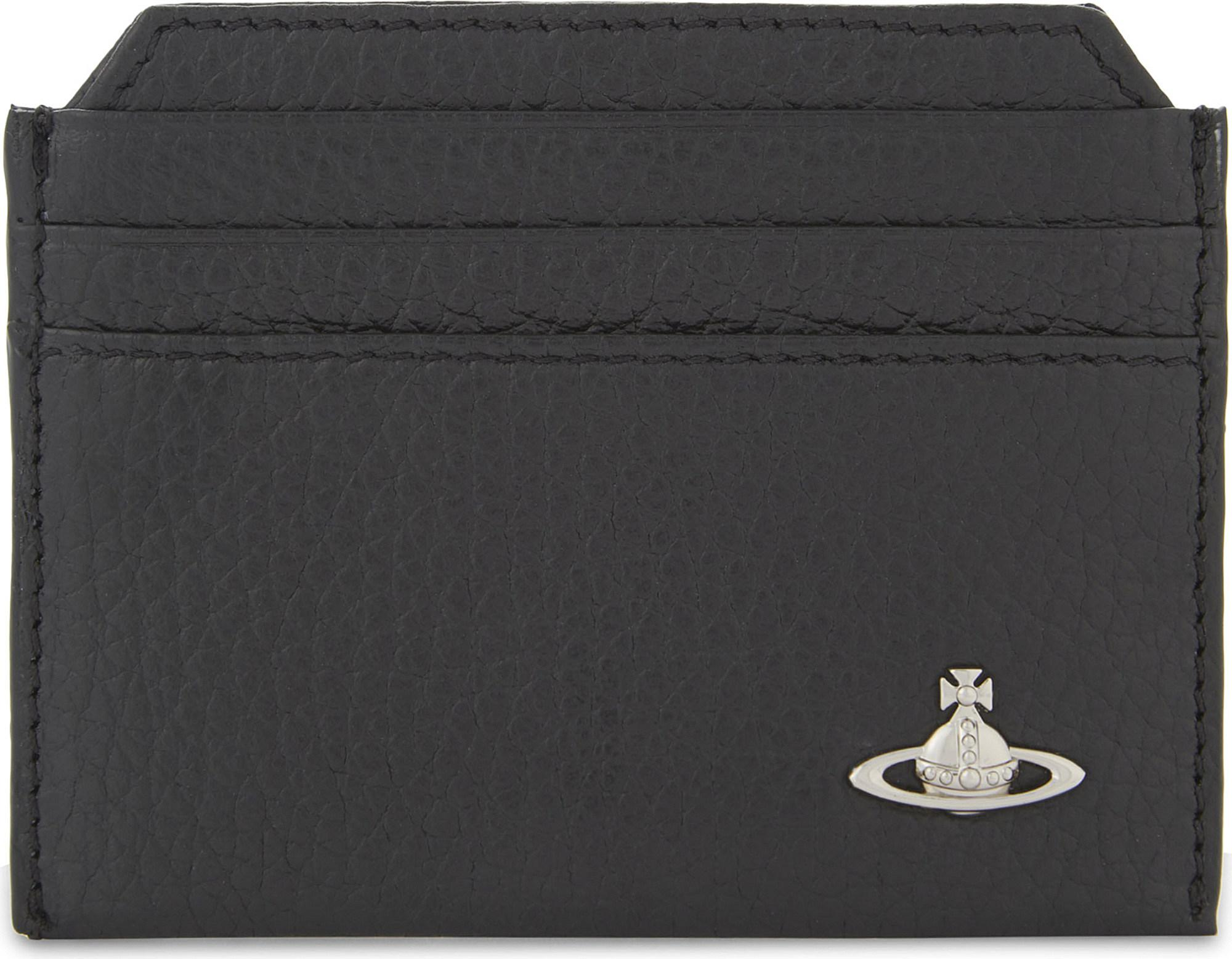 f71413a344b Lyst - Vivienne Westwood Milano Grained Leather Card Holder in Black ...