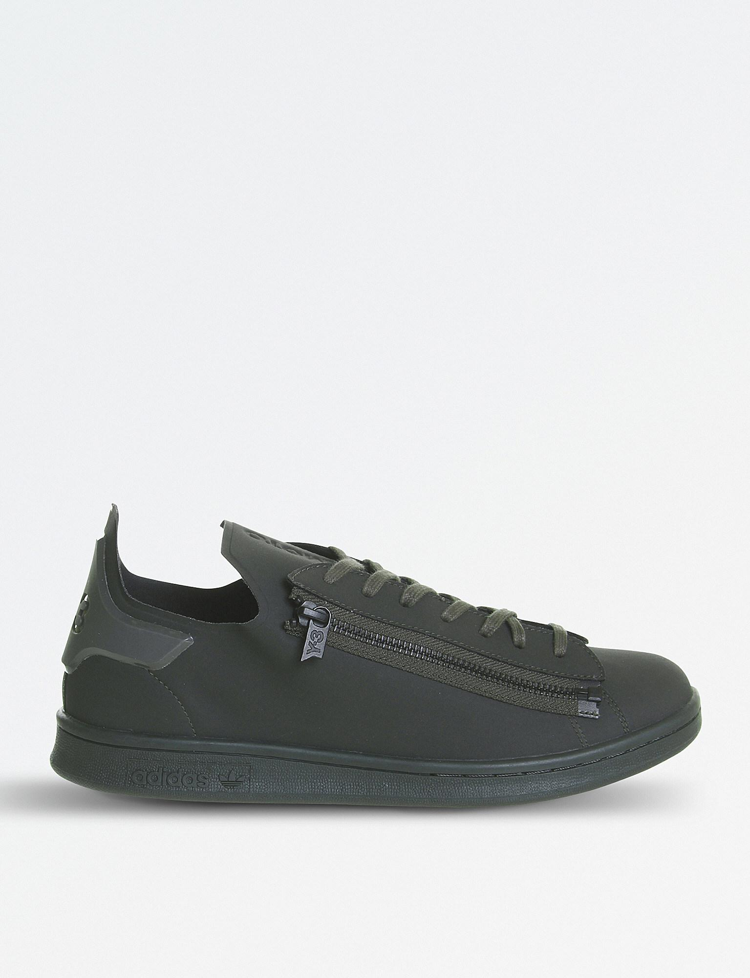 5de464735d0ae Y-3 Stan Zip Leather Trainers for Men - Lyst