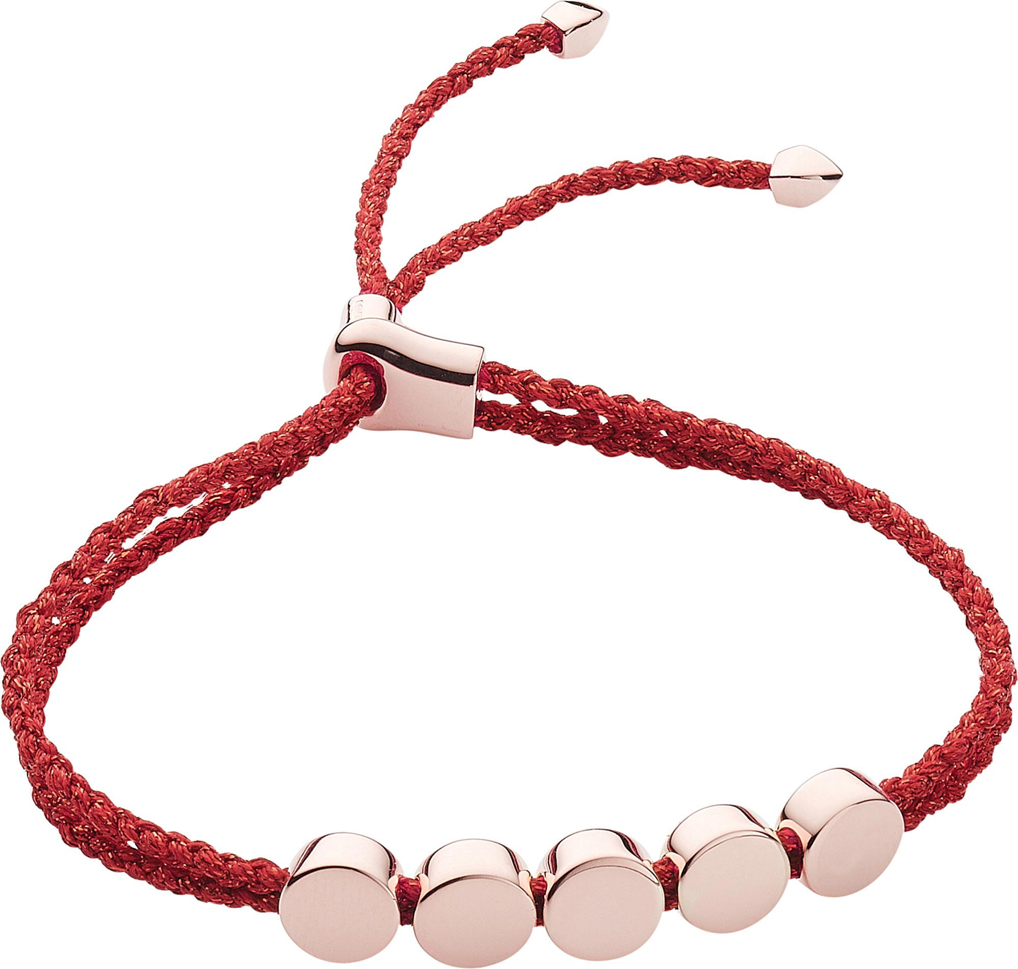 Rose Gold Linear Bead Friendship Chain Bracelet Monica Vinader csOGED