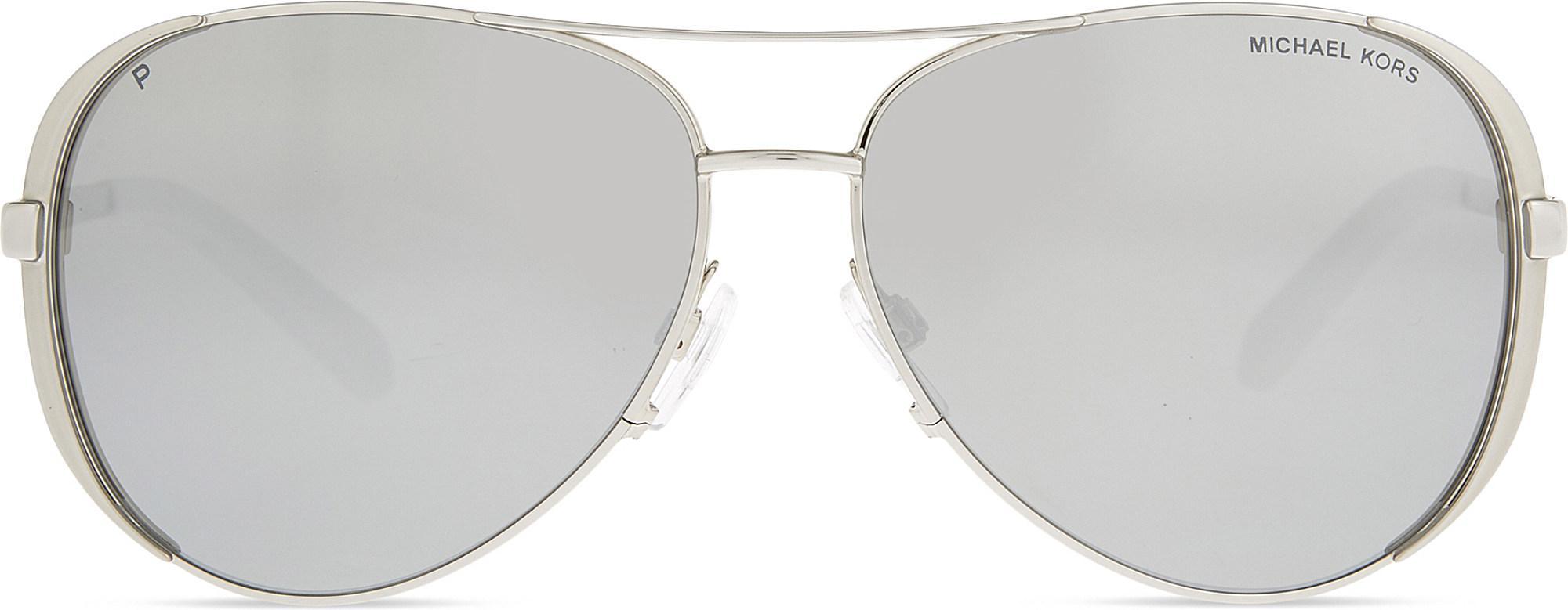 d110bedf06 Lyst - Michael Kors Mk5004 Chelsea Aviator Sunglasses in Metallic