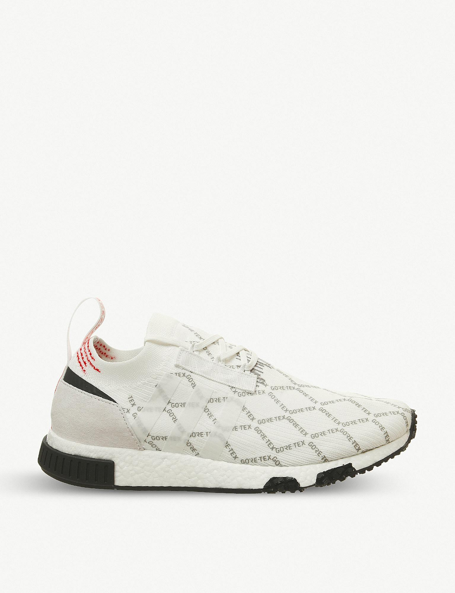 fdd443b51163 Lyst - adidas Nmd Racer Primeknit And Gore-tex Trainers in White for Men