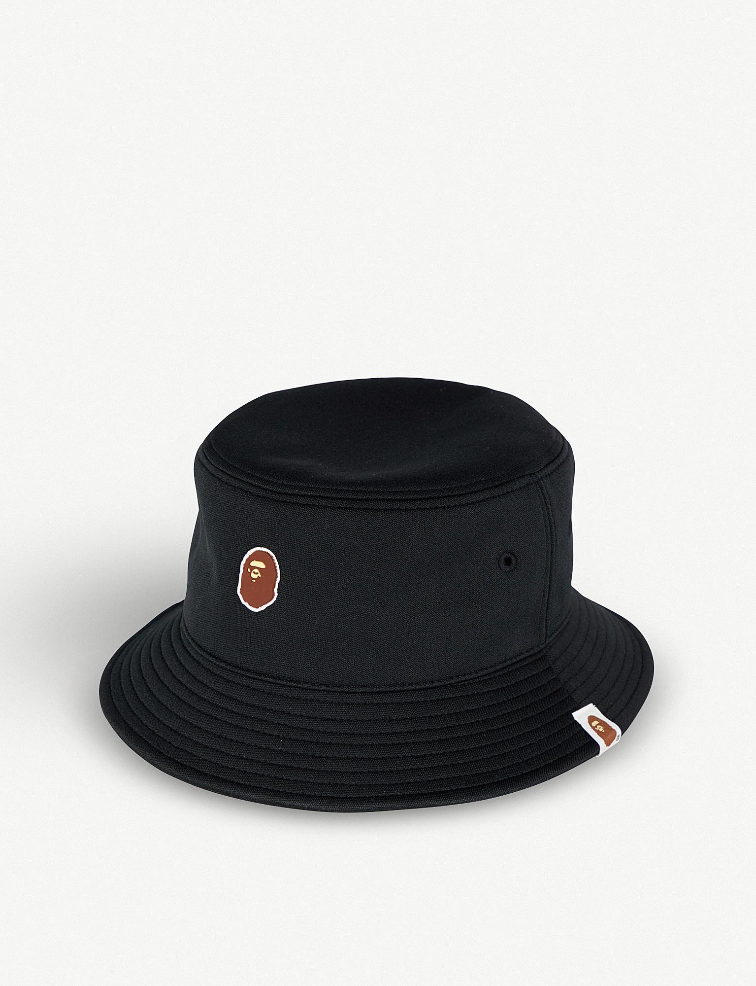 6971dcbcc66 Lyst - A Bathing Ape Ape Head-logo Bucket Hat in Black for Men