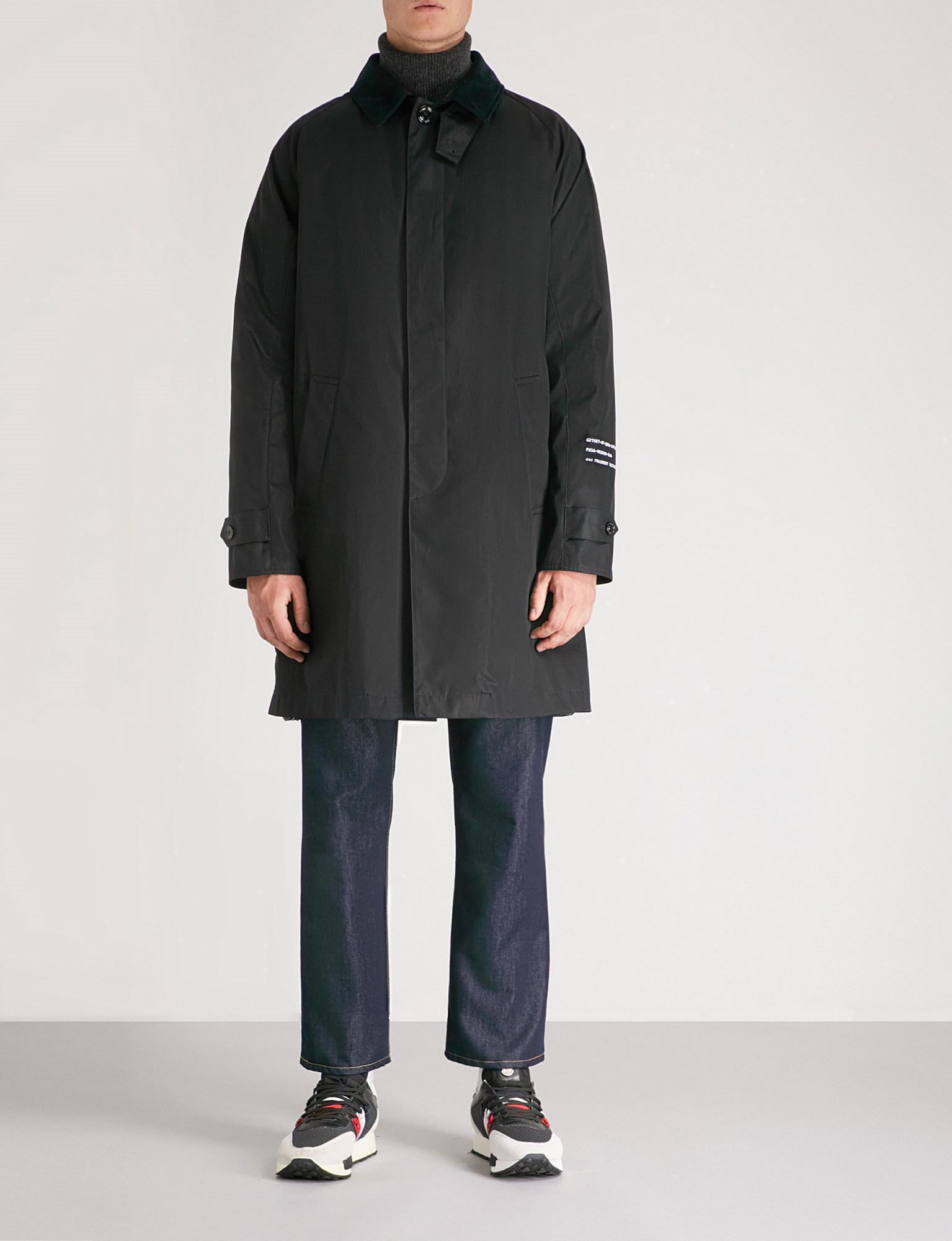 cd5a155fc Moncler Black 7 Fragment Hiroshi Fujiwara Vallor Crepe Coat for men