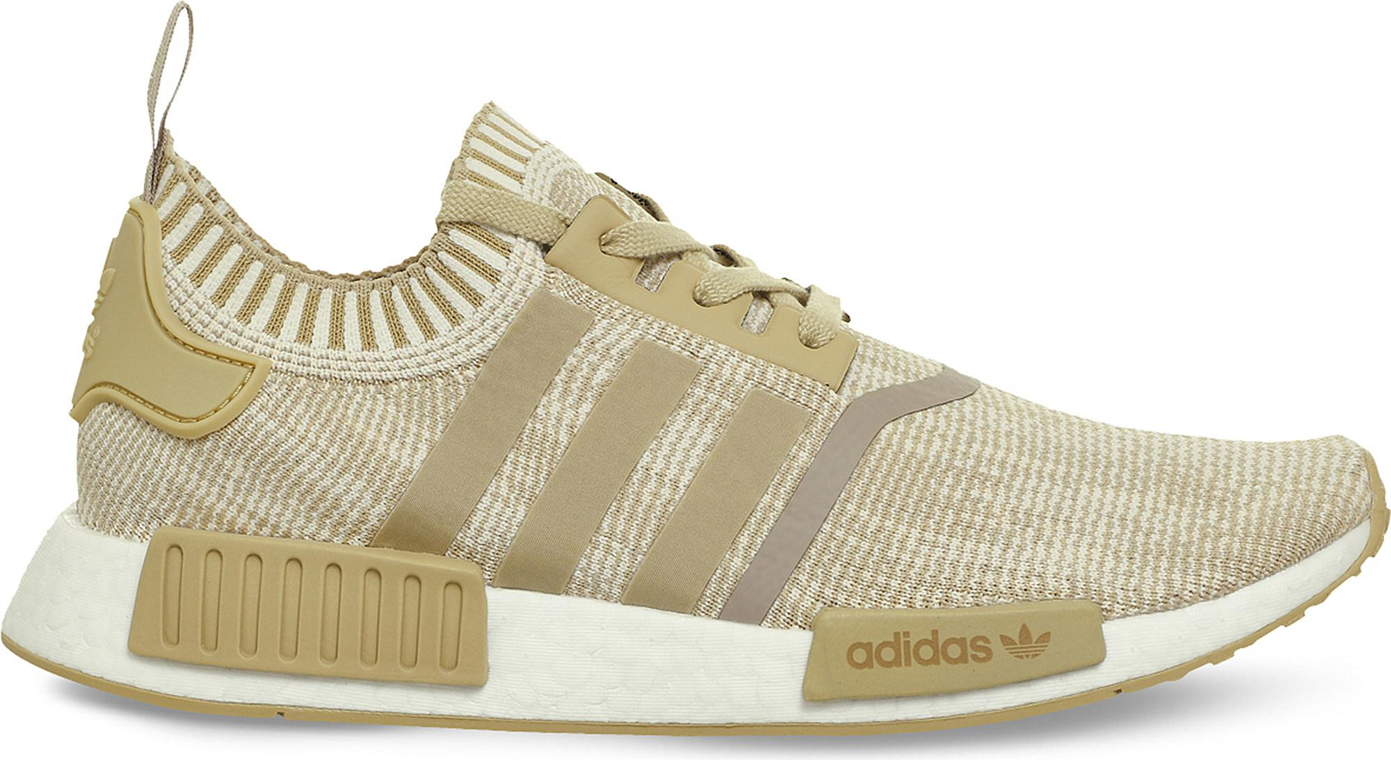 981175186 Lyst - adidas Nmd R1 Primeknit Trainers in Natural for Men