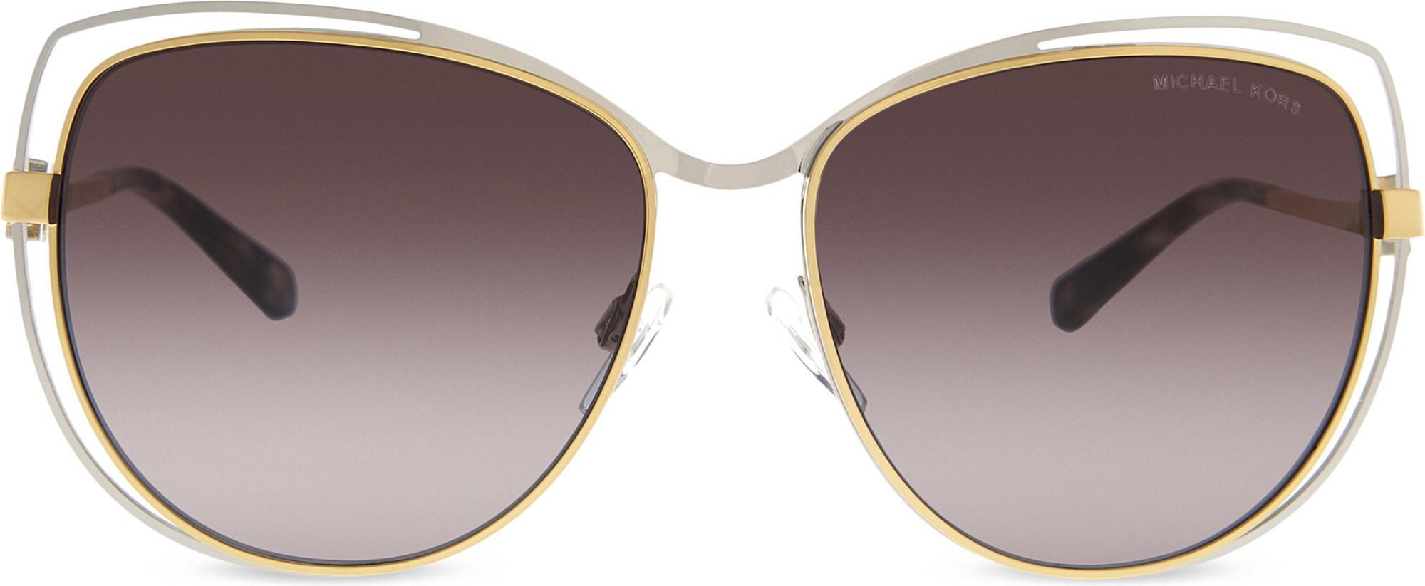 3d09c9ef5c Michael Kors. Women s Metallic Mk1013 Audrina I Cat Eye-frame Sunglasses