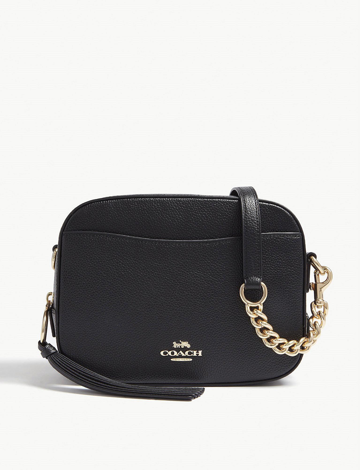90a7eb532cc COACH - Ladies Black Leather Camera Bag - Lyst. View fullscreen