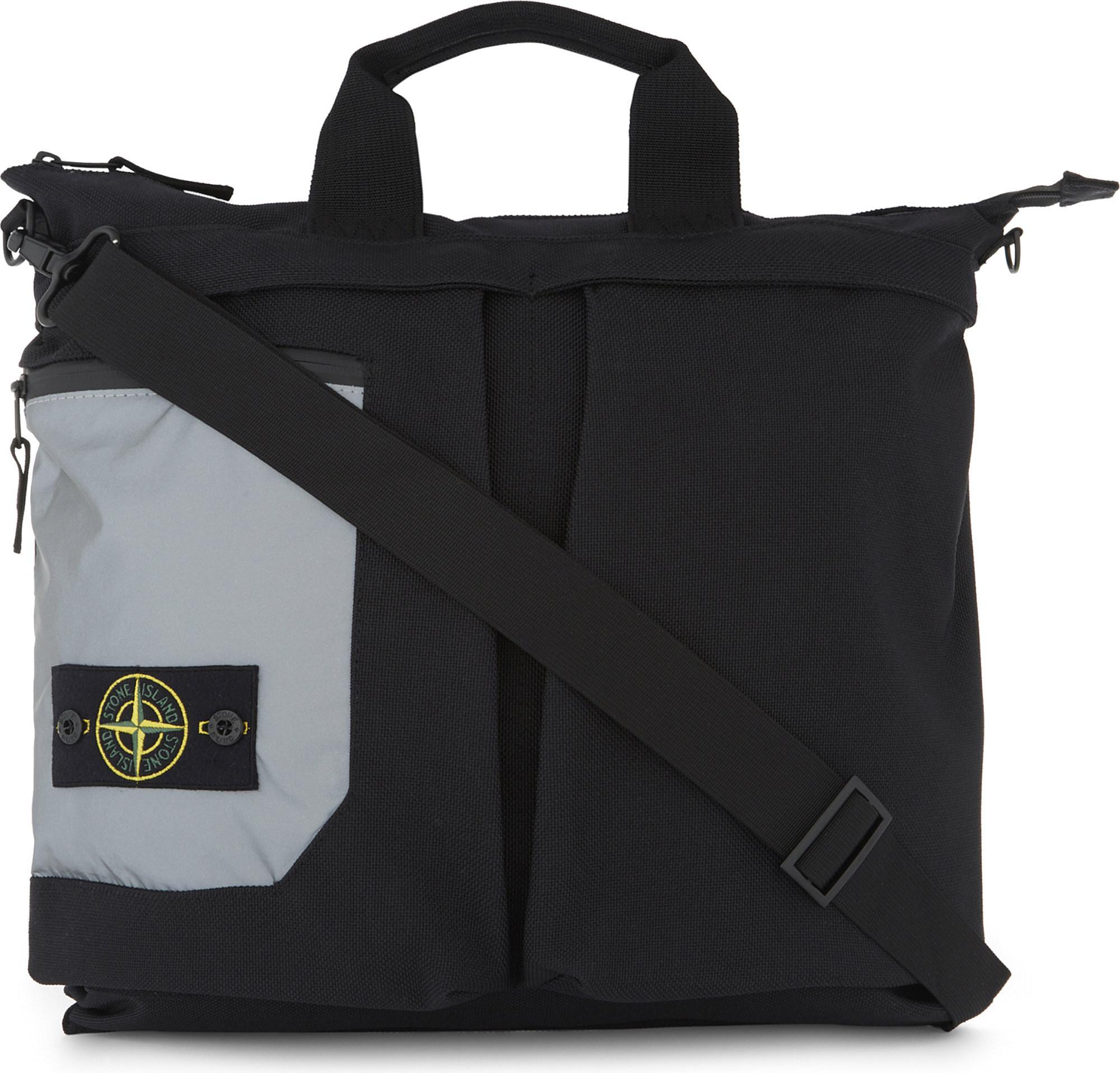 ffb8b130daaa Lyst - Stone Island Slim Nylon Tote Backpack in Black for Men