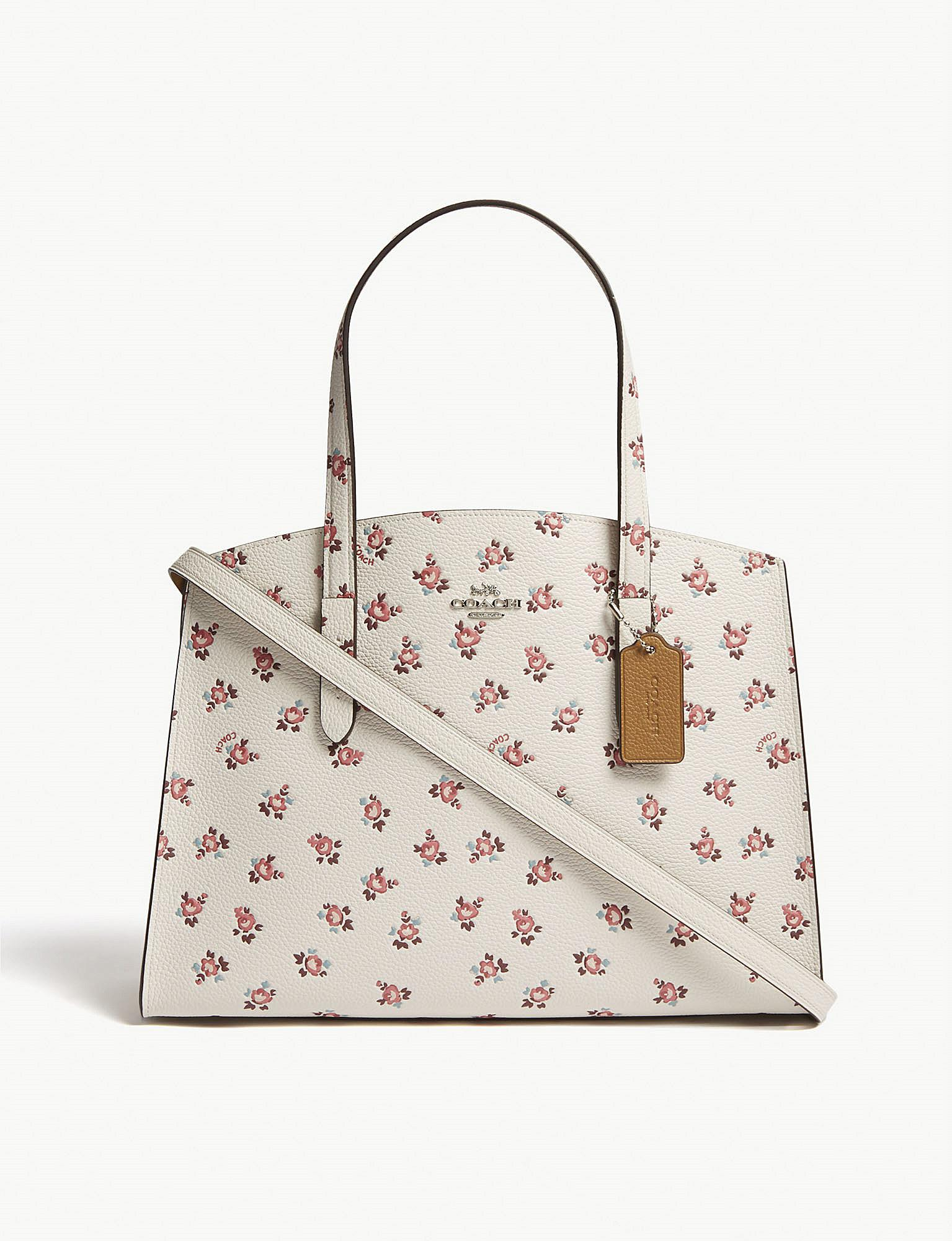 f48ac37ec6c1 Lyst - COACH Charlie Floral Bloom Print Leather Tote