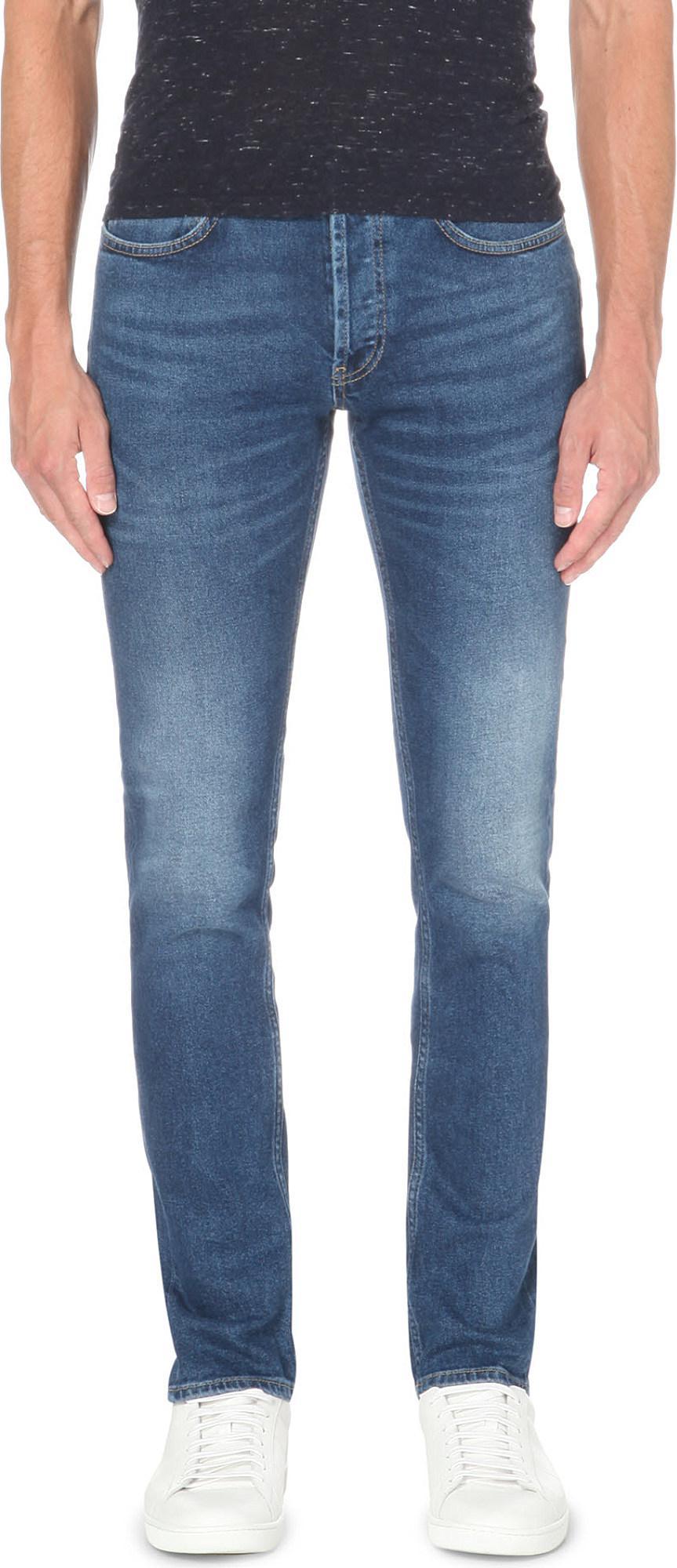 Sandro. Men's Blue Slim-fit Tapered Stretch-denim Jeans