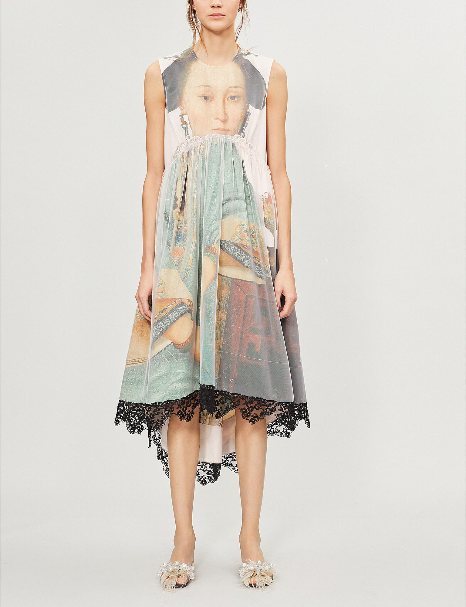 27dc3c3ccad1 Lyst - Simone Rocha Graphic-print Cotton And Tulle Dress in Pink