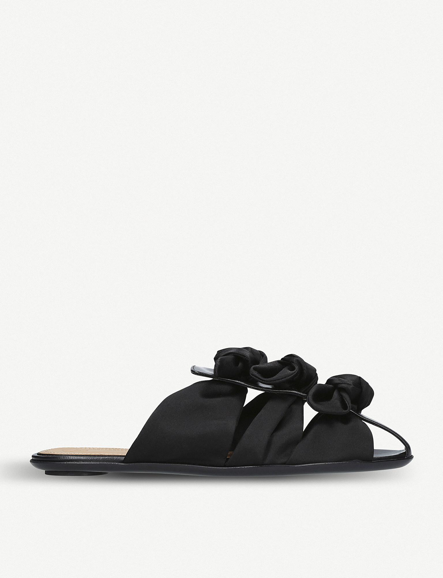 The Row Capri Bow satin sandals IOW7Gs