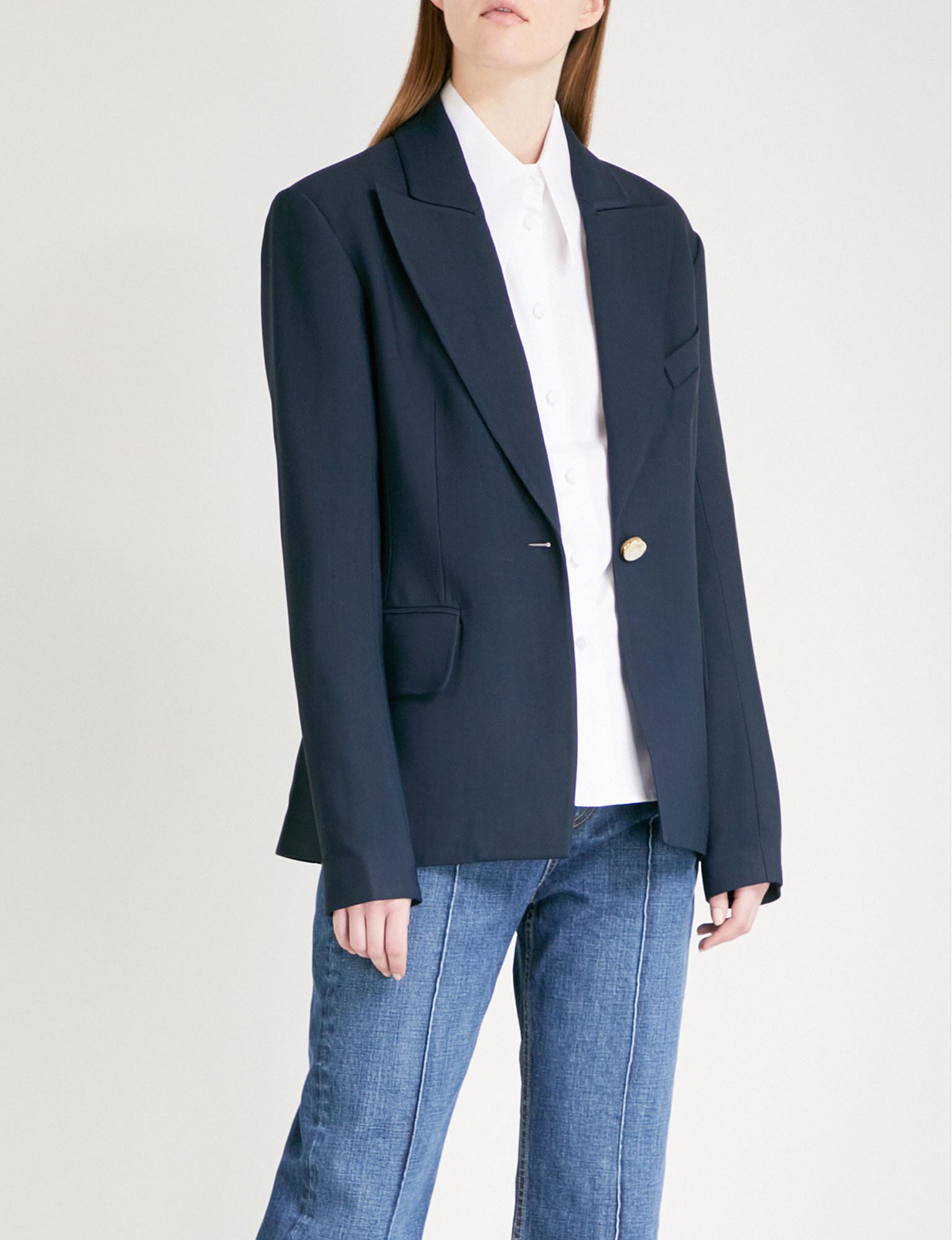 Wide Range Of Cheap Online slim-fit buttoned blazer - Blue Khaite Outlet Locations Sale Online Sale Huge Surprise Purchase Online B4uoMl