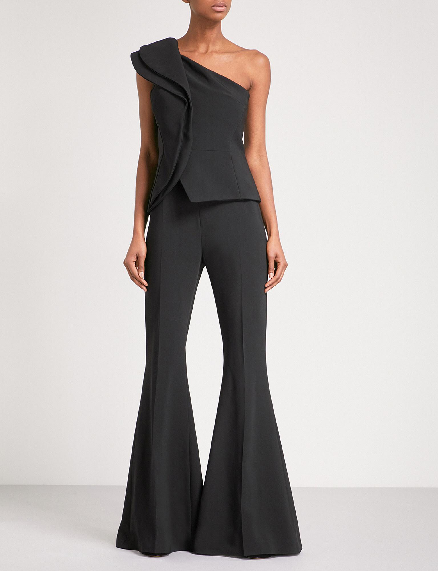 e7602a46a979 Lyst - Antonio Berardi Moreno One-shoulder Crepe Jumpsuit in Black