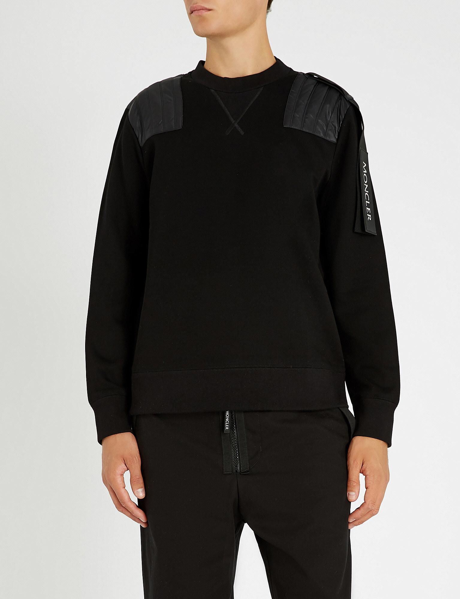 e2ba5df0e Moncler Craig Green Quilted Shell-panel Cotton-blend Sweatshirt in ...