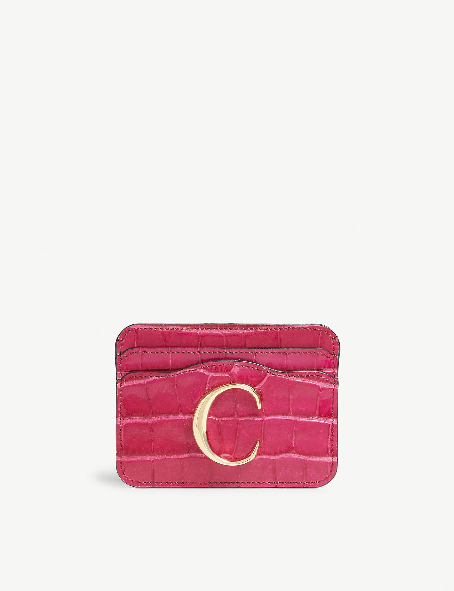 Genuine DUNE Pink Reptile Effect Purse Large Ladies With Credit Card Holder