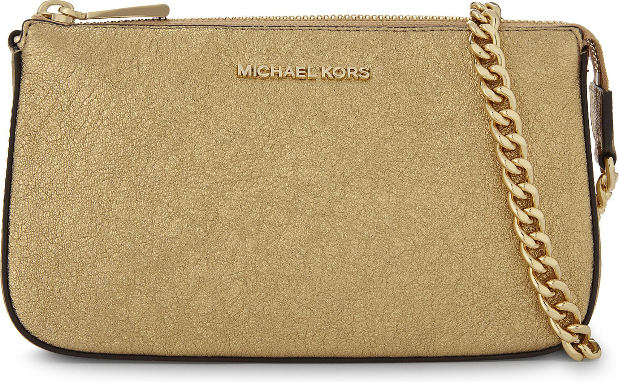 3ad19b2b4206 MICHAEL Michael Kors Mini Amor Glitter Shoulder Bag in Metallic - Lyst