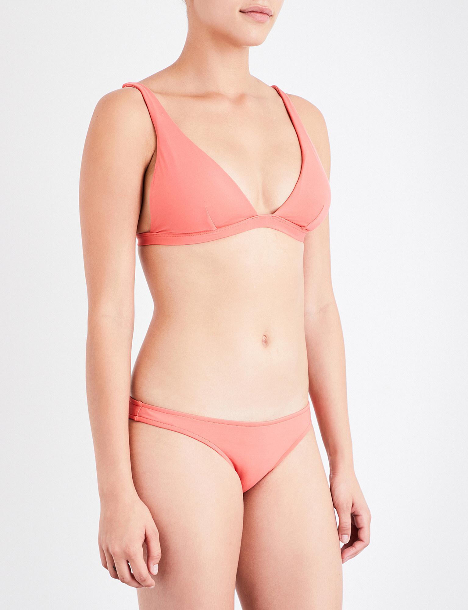 bf1a2bc1f62fc Jets by Jessika Allen Jetset Triangle Bikini Top in Pink - Lyst