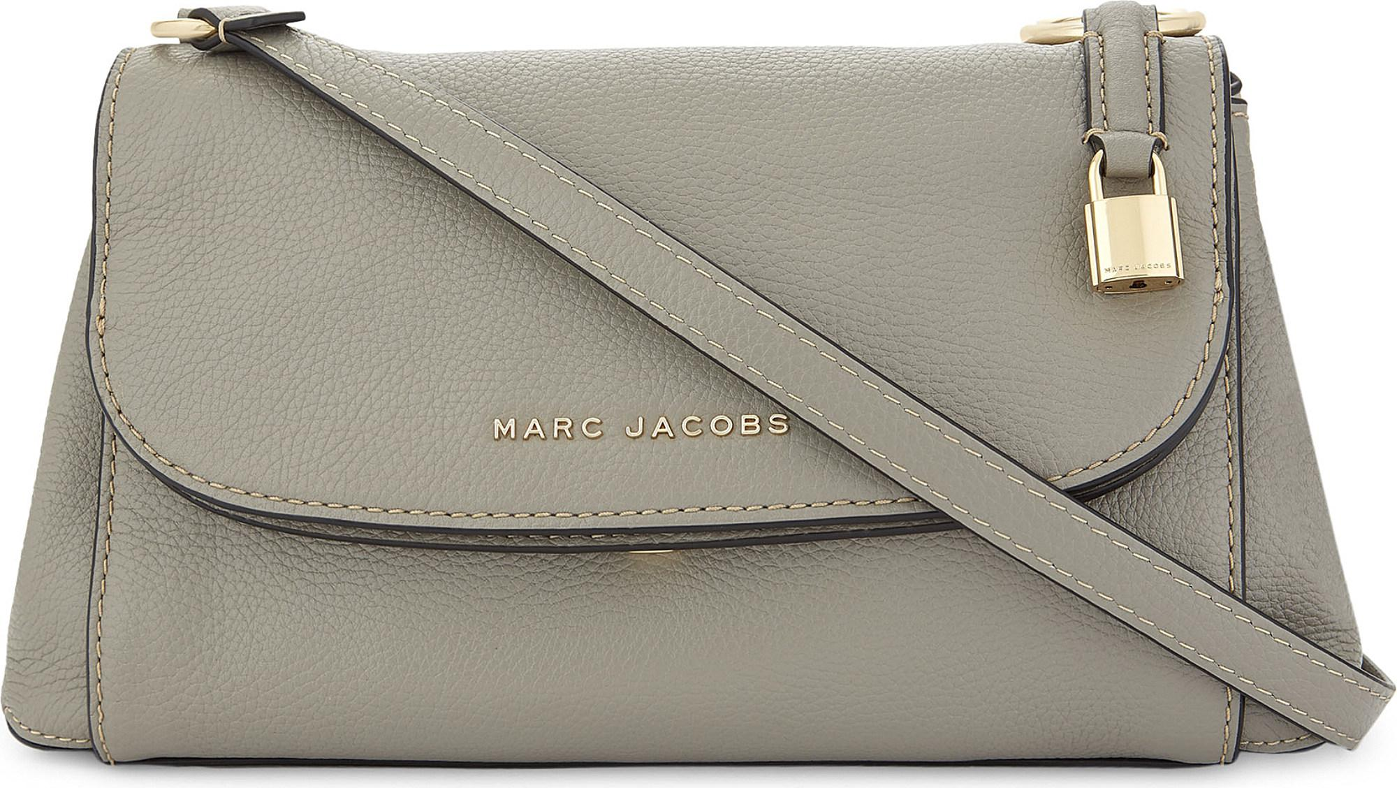 f0712b3f93 Marc Jacobs Boho Grind Leather Cross-body Bag in Gray - Lyst