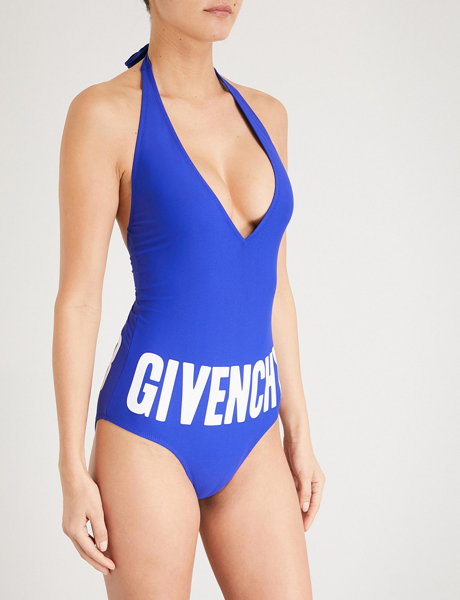 8f01b1d0e55563 Givenchy Logo-print Swimsuit in Blue - Lyst