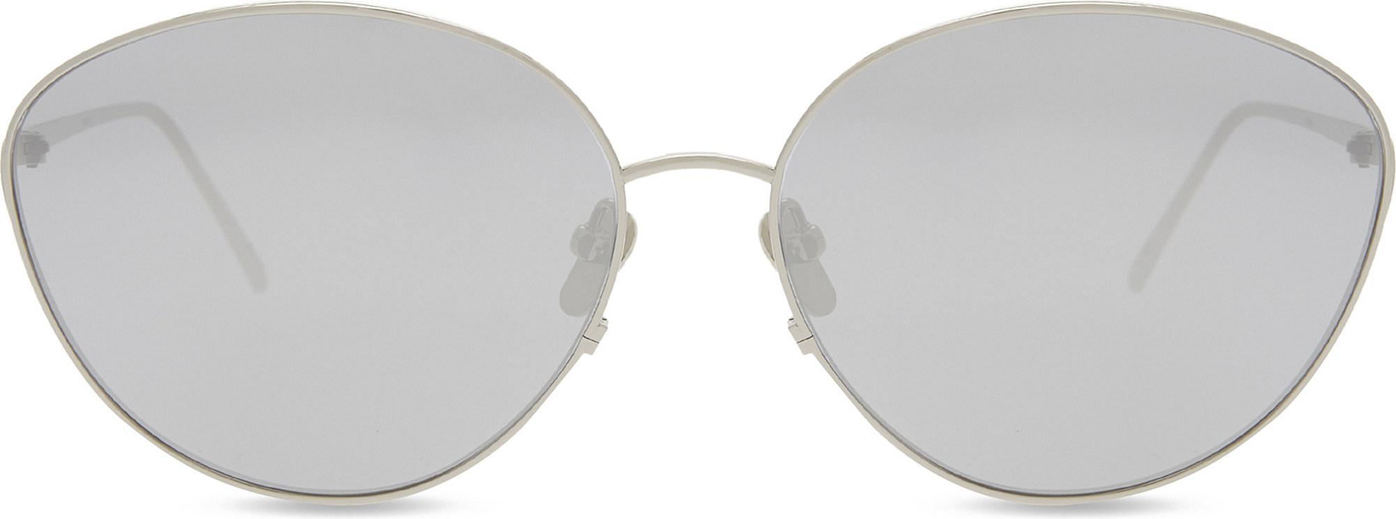 73d3dc30284 Linda Farrow Lfl508 Cat-eye Sunglasses in White - Lyst
