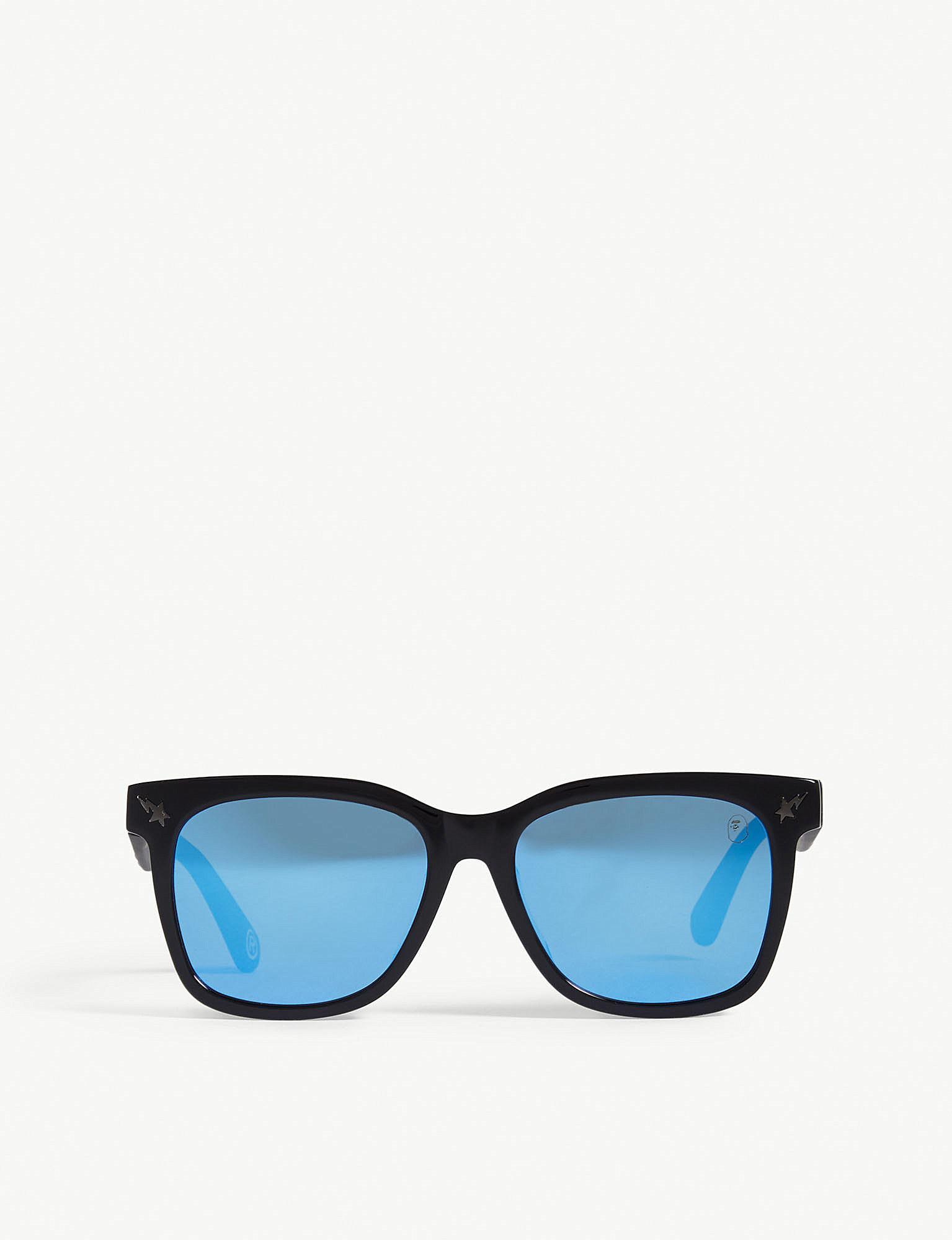 68b89b4392 Lyst - A Bathing Ape Parkas04 Square-frame Sunglasses in Blue for Men