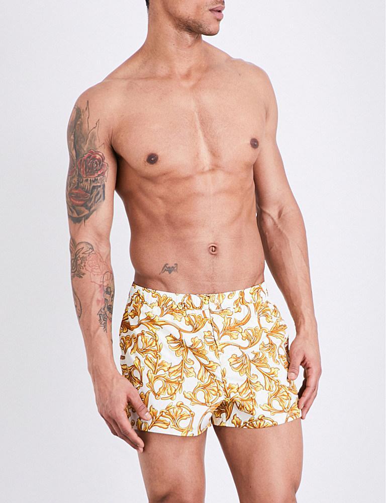 a9bb634c7e Versace Baroque Swim Shorts for Men - Lyst