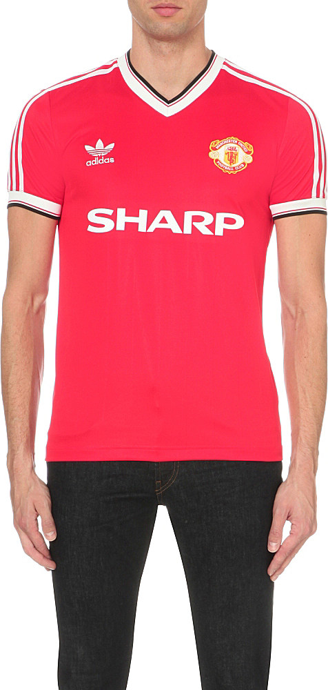 in stock 95785 fbf1b Adidas Originals Red Manchester United 1984 Jersey T-shirt for men