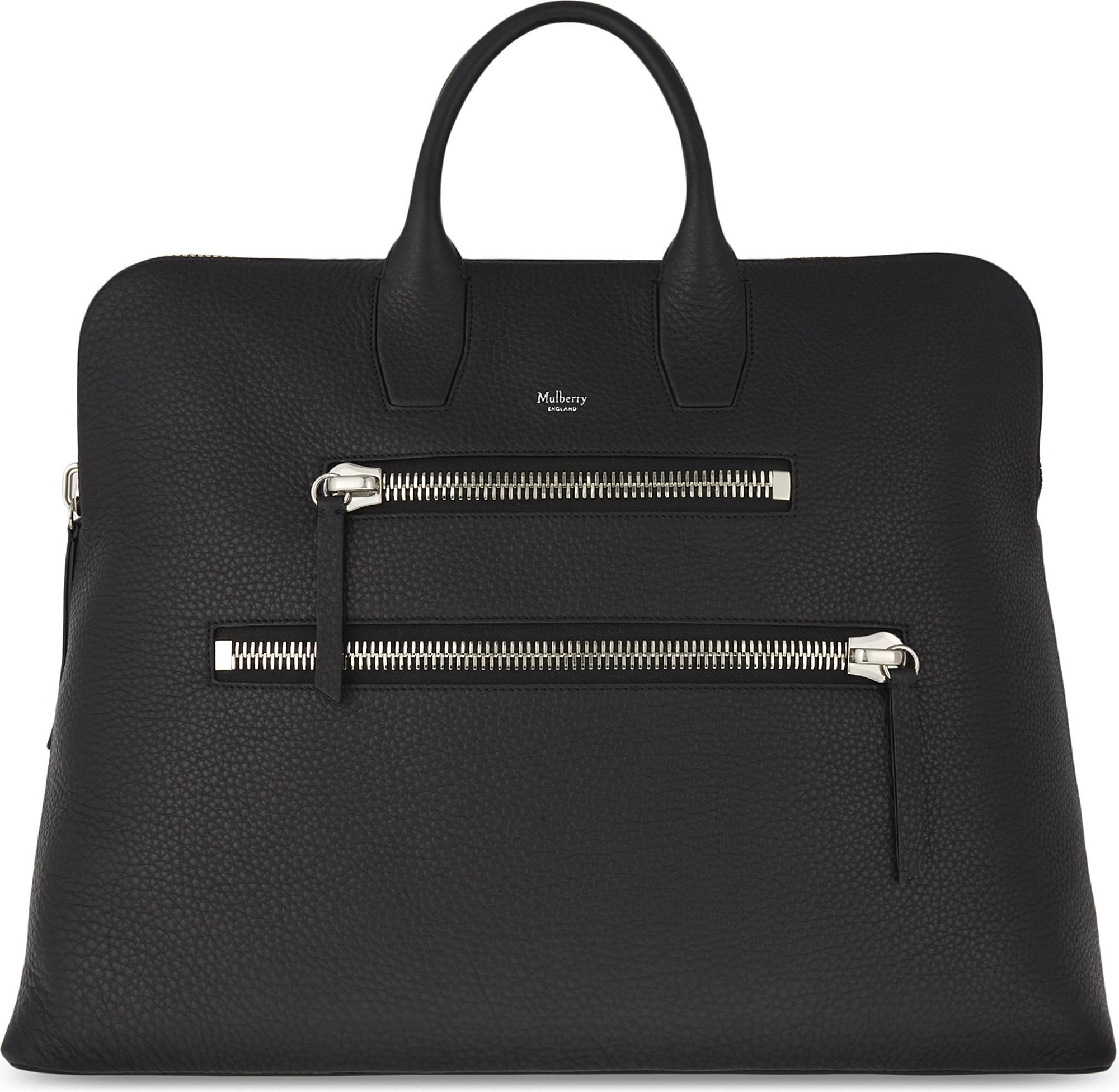 d55c20cab47c Mulberry Ladies Elegant Black Leather Zip Holdall Bag in Black - Lyst