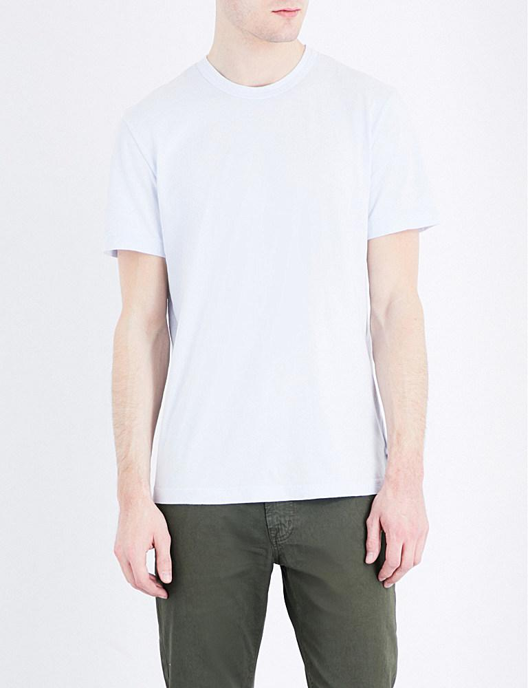 James perse crewneck cotton jersey t shirt in white for for James perse t shirts sale