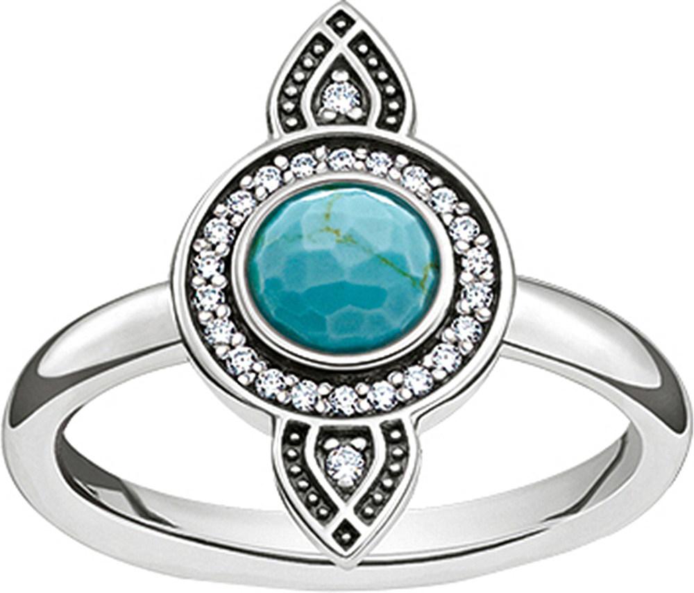 lyst thomas sabo dreamcatcher sterling silver ring in. Black Bedroom Furniture Sets. Home Design Ideas