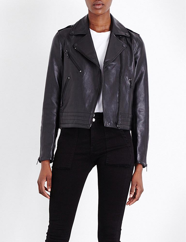 Lyst Rag Bone Mercer Leather Biker Jacket In Black